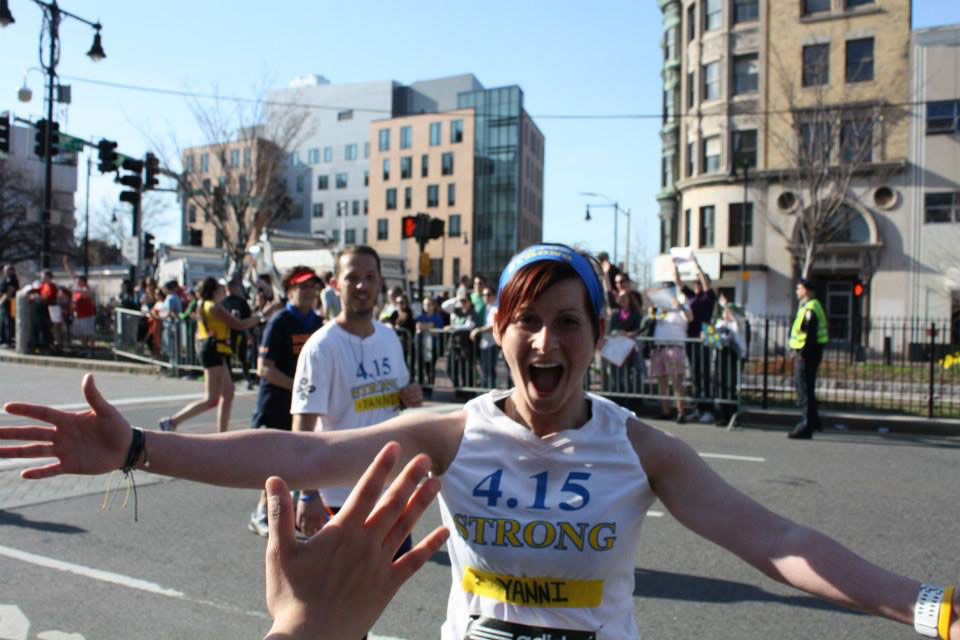 The author at the 2014 Boston Marathon