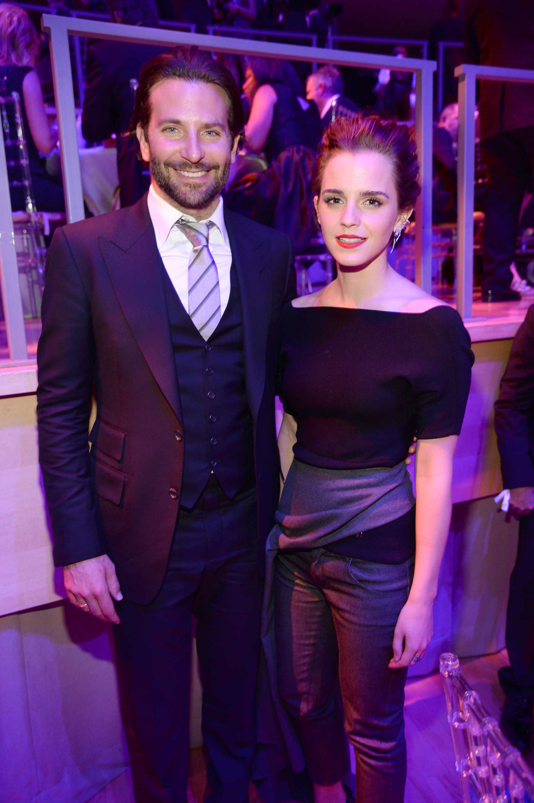 Bradley Cooper and Emma Watson attend the TIME 100 Gala at Jazz at Lincoln Center in New York City on April 21, 2015.
