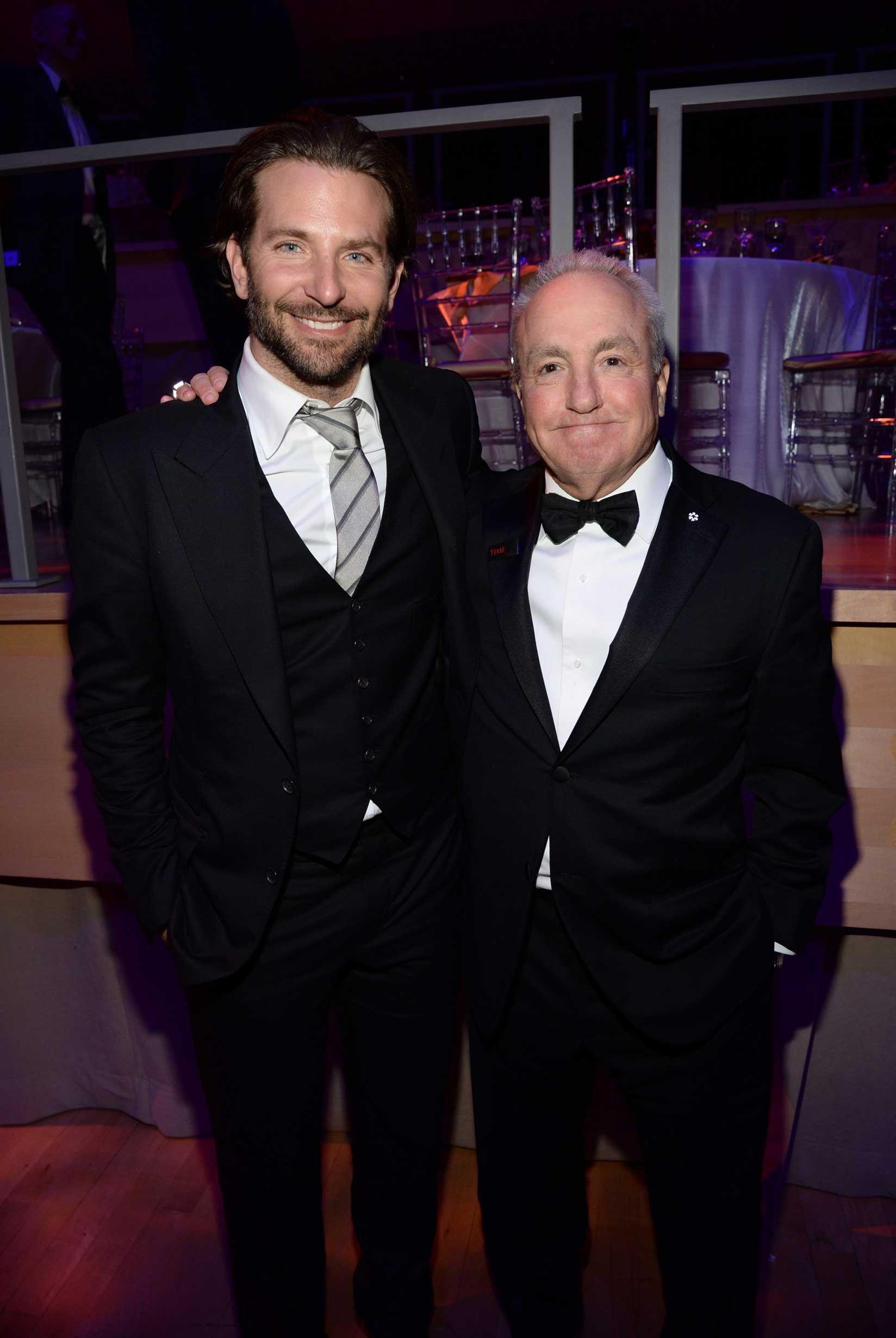 Bradley Cooper and Lorne Michaels attend the TIME 100 Gala at Jazz at Lincoln Center in New York City on April 21, 2015.