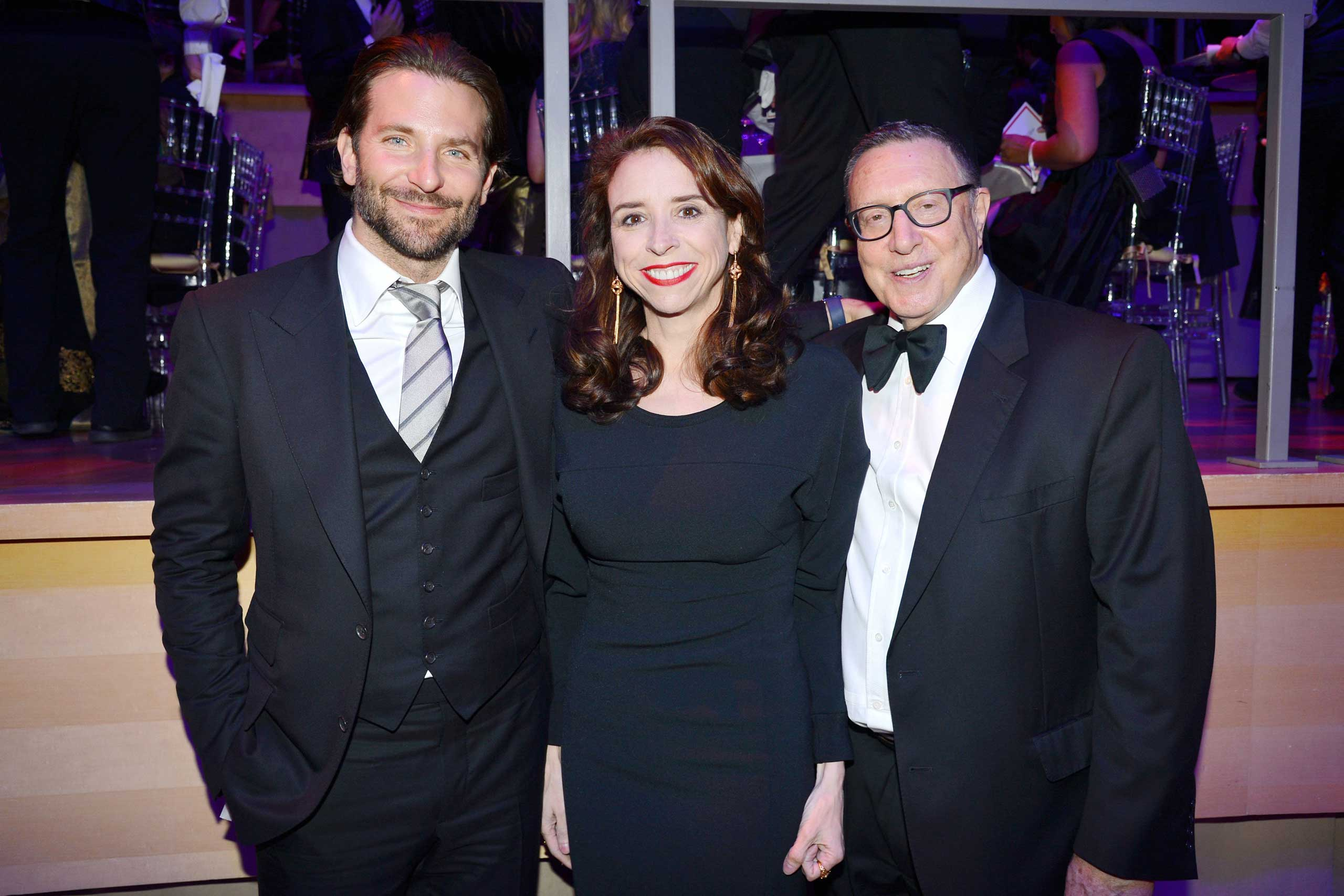 Bradley Cooper, Jane Boon, Norman Pearlstein attend the TIME 100 Gala at Jazz at Lincoln Center in New York City on April 21, 2015.
