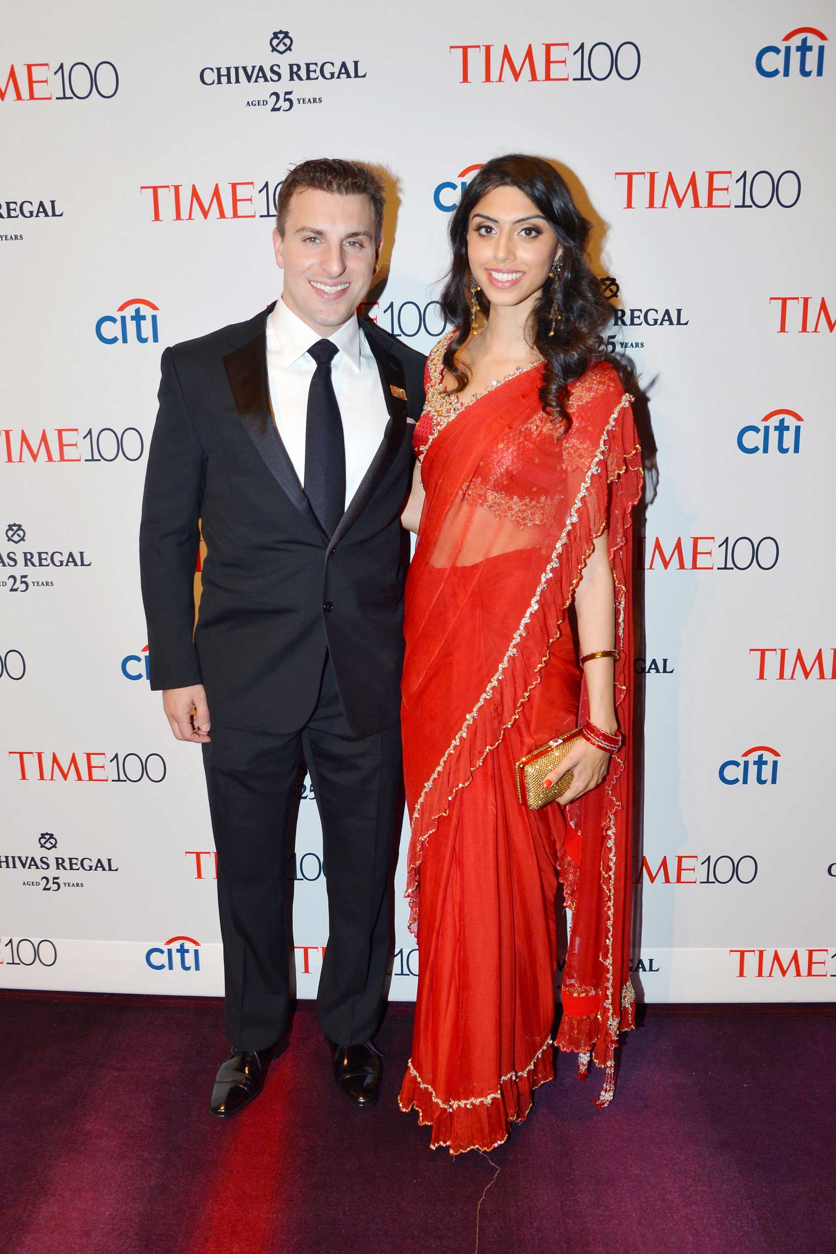 Brian Chesky and Elissa Patel attend the TIME 100 Gala at Jazz at Lincoln Center in New York City on April 21, 2015.