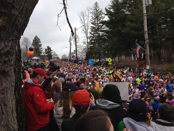 Chuck Nowlin shared an image of  Just a nonstop sea of runners! @wzlx @bostonmarathon http://t.co/QodtcyZwpv