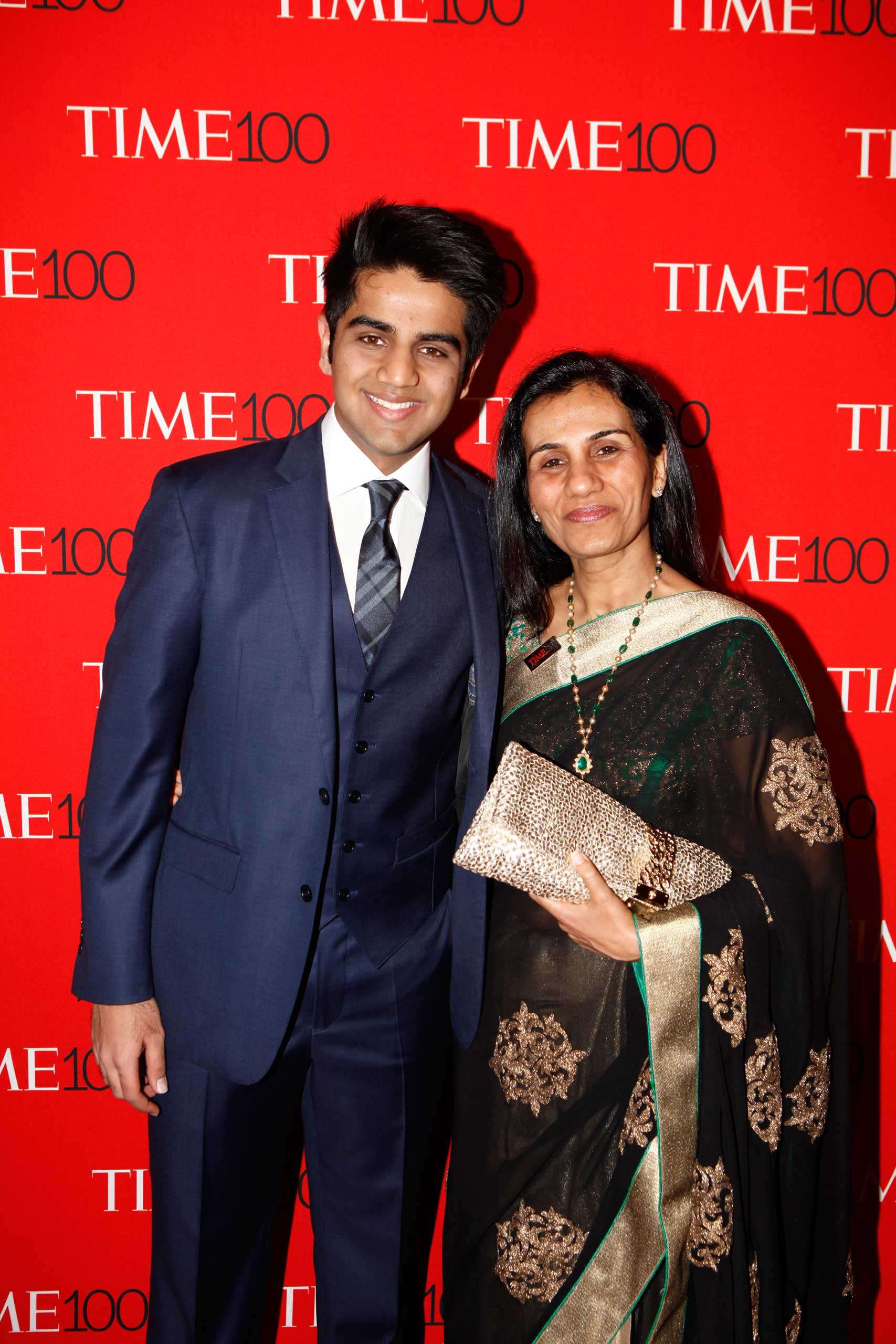 Chanda Kochhar attends the TIME 100 Gala at Jazz at Lincoln Center in New York City on Apr. 21, 2015.