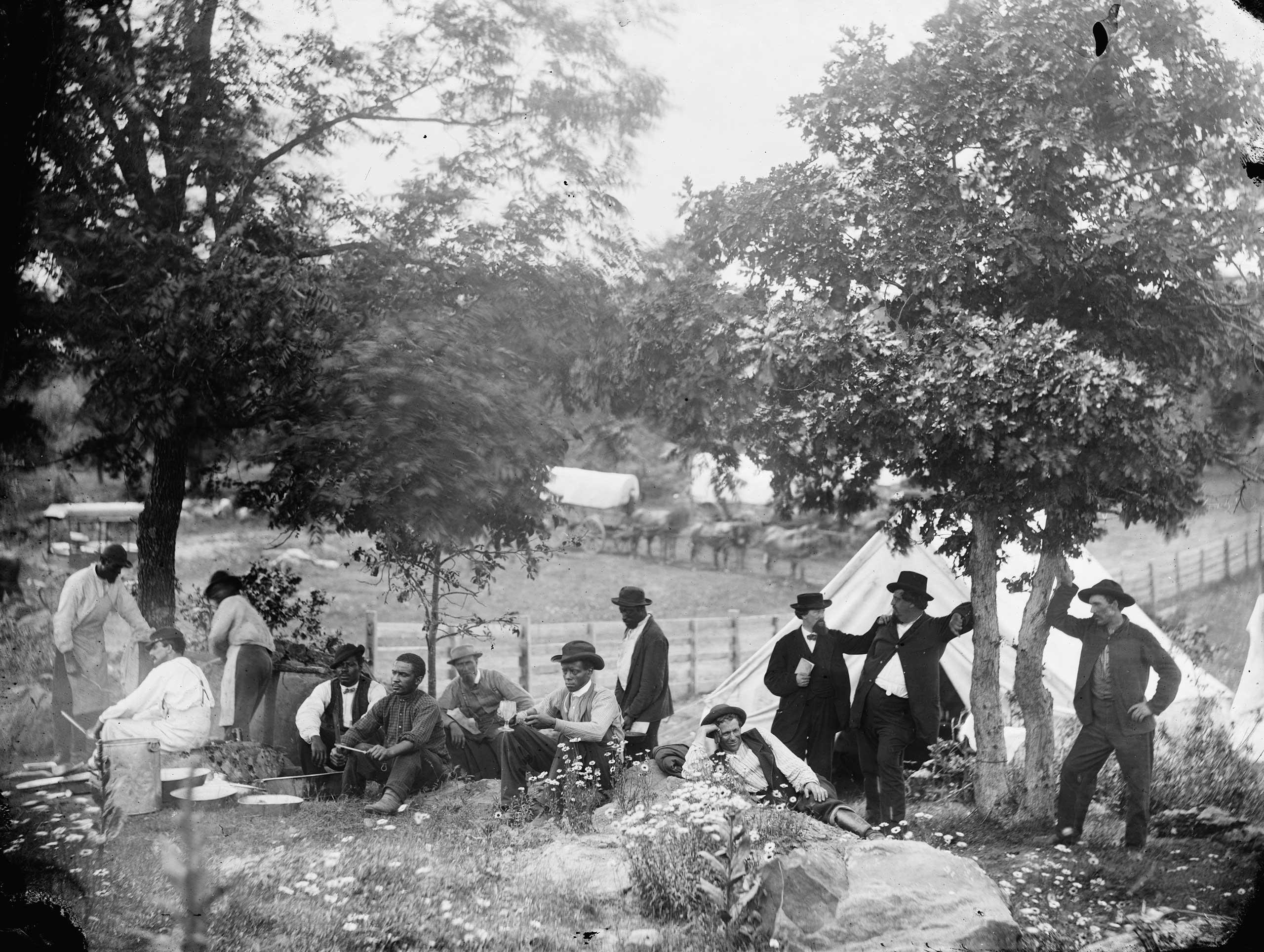 Camp of Captain [John J.] Hoff., in Gettysburg, Penn., July, 1865