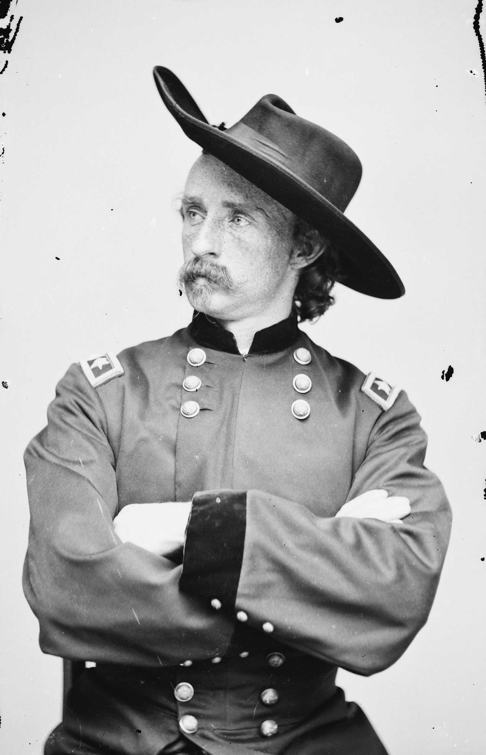 Portrait of Maj. Gen. George A. Custer, officer of the Federal Army, 1865.