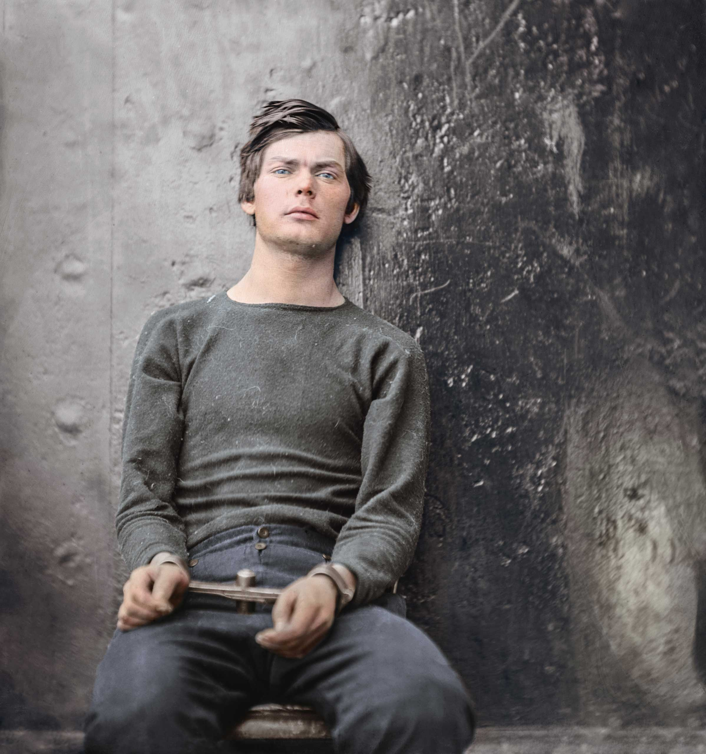 Lewis Payne, a conspirator in the assassination of President Lincoln, in the Washington Navy Yard, April-July 1865.