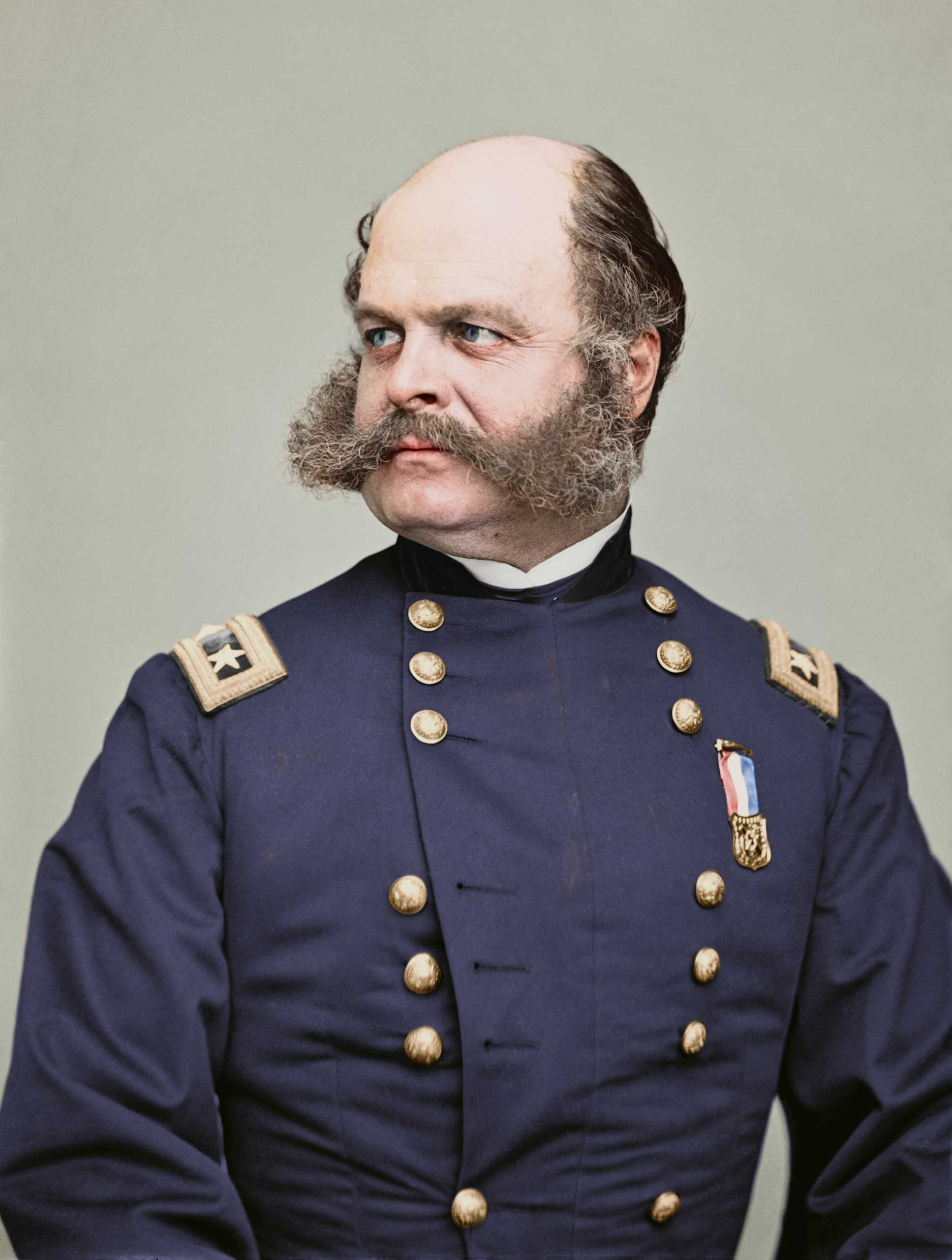 Portrait of Maj. Gen. Ambrose E. Burnside, officer of the Federal Army, 1860-1865.