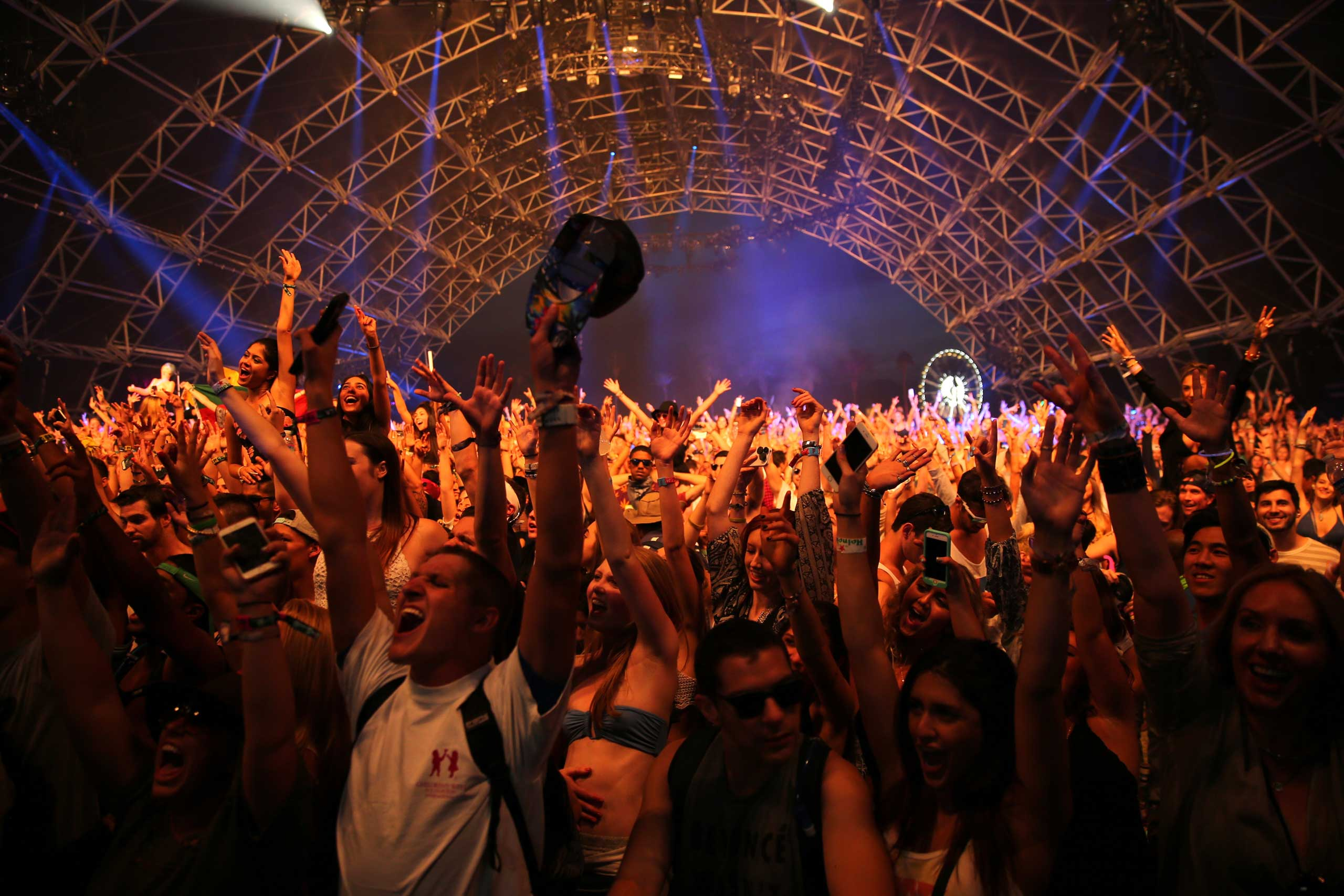 Music fans attend Coachella Valley Music & Arts Festival in Indio, Calif. on April 10, 2015.