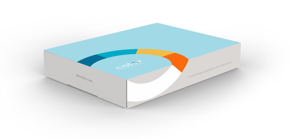 Saliva test kit offered by Color Genomics