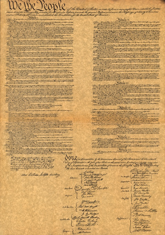 Facimile of The Constitution For The United States Of America
