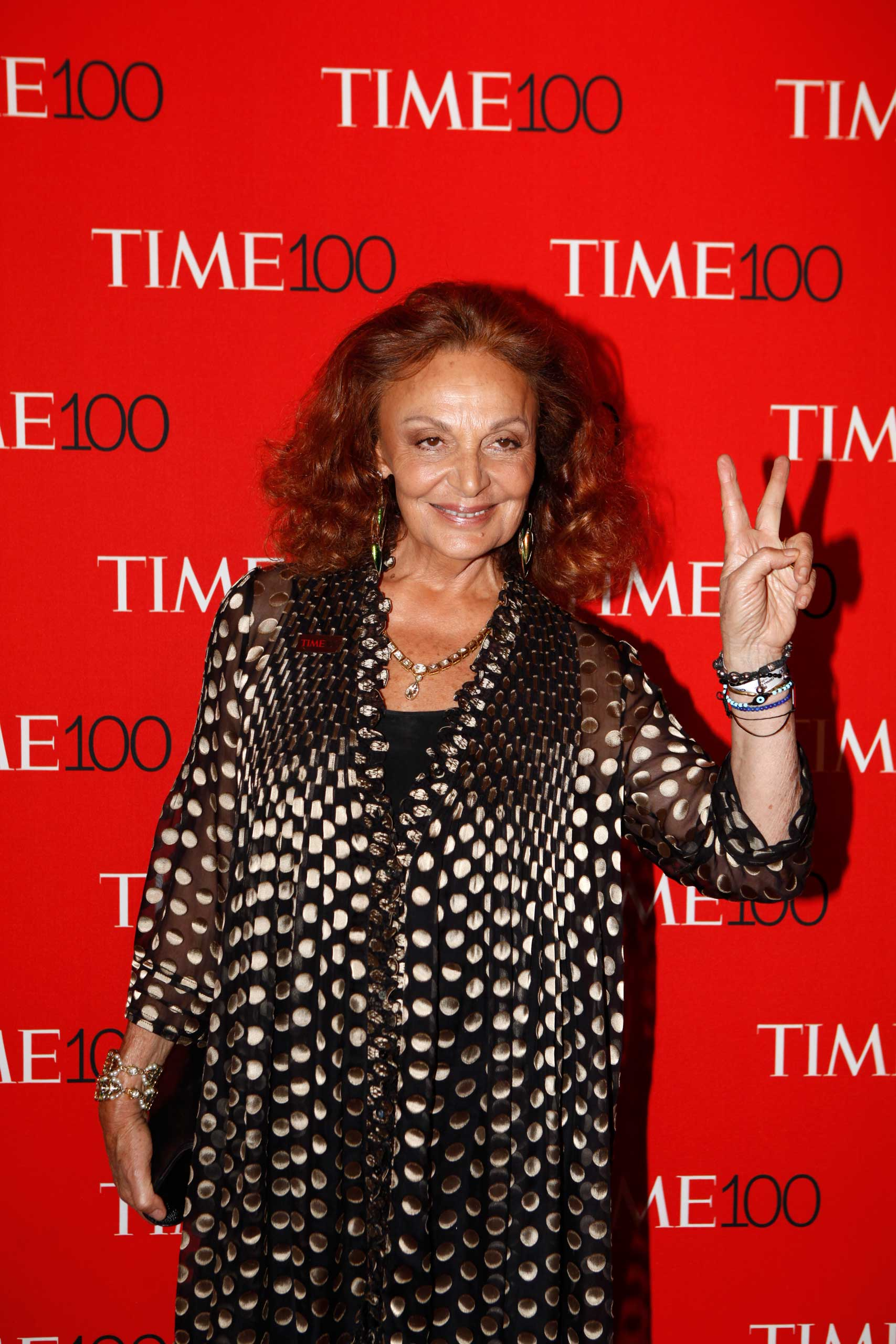 Diane Von Furstenberg attends the TIME 100 Gala at Jazz at Lincoln Center in New York City on Apr. 21, 2015.