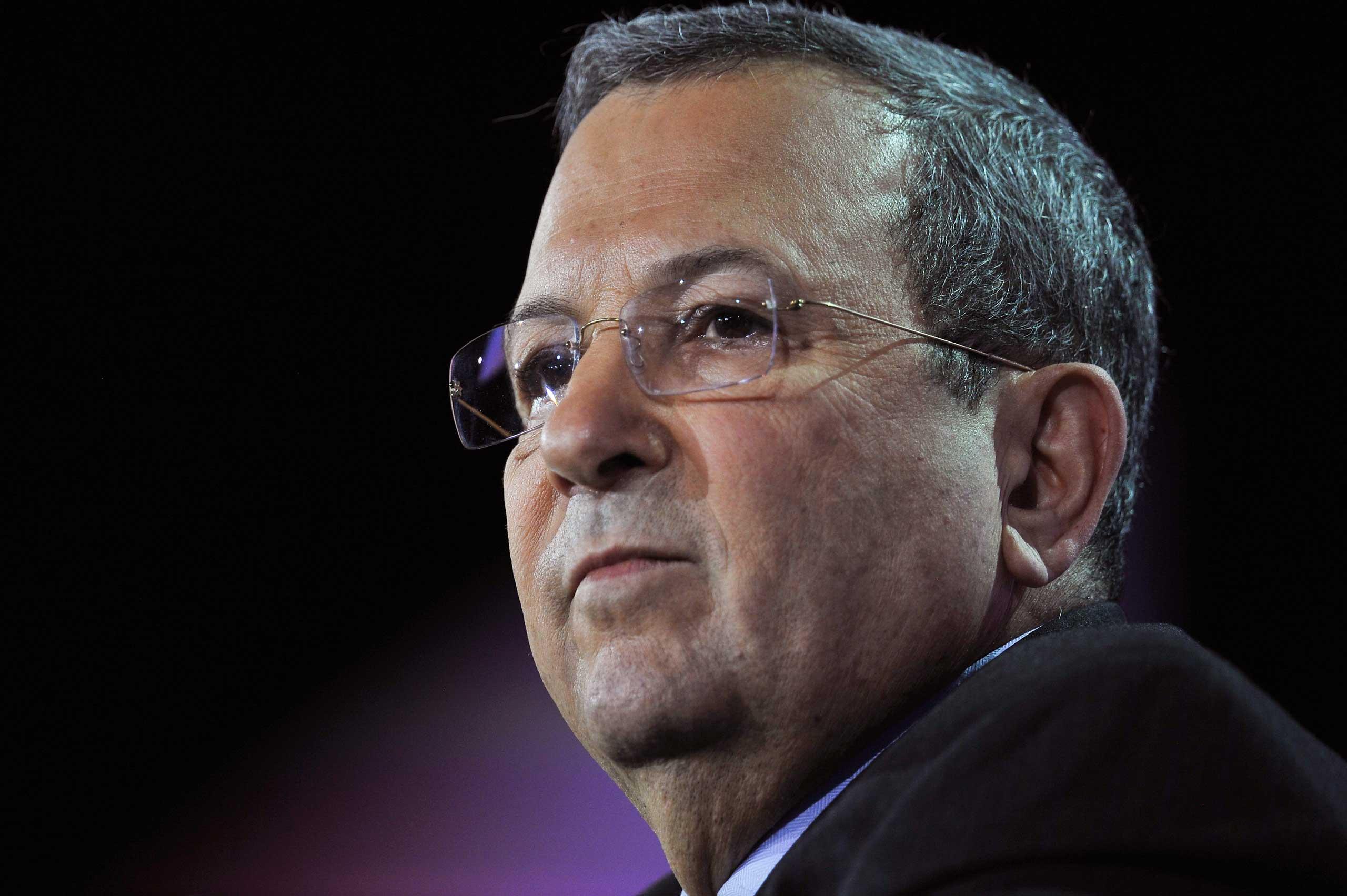Former Israeli Defense Minister Ehud Barak.