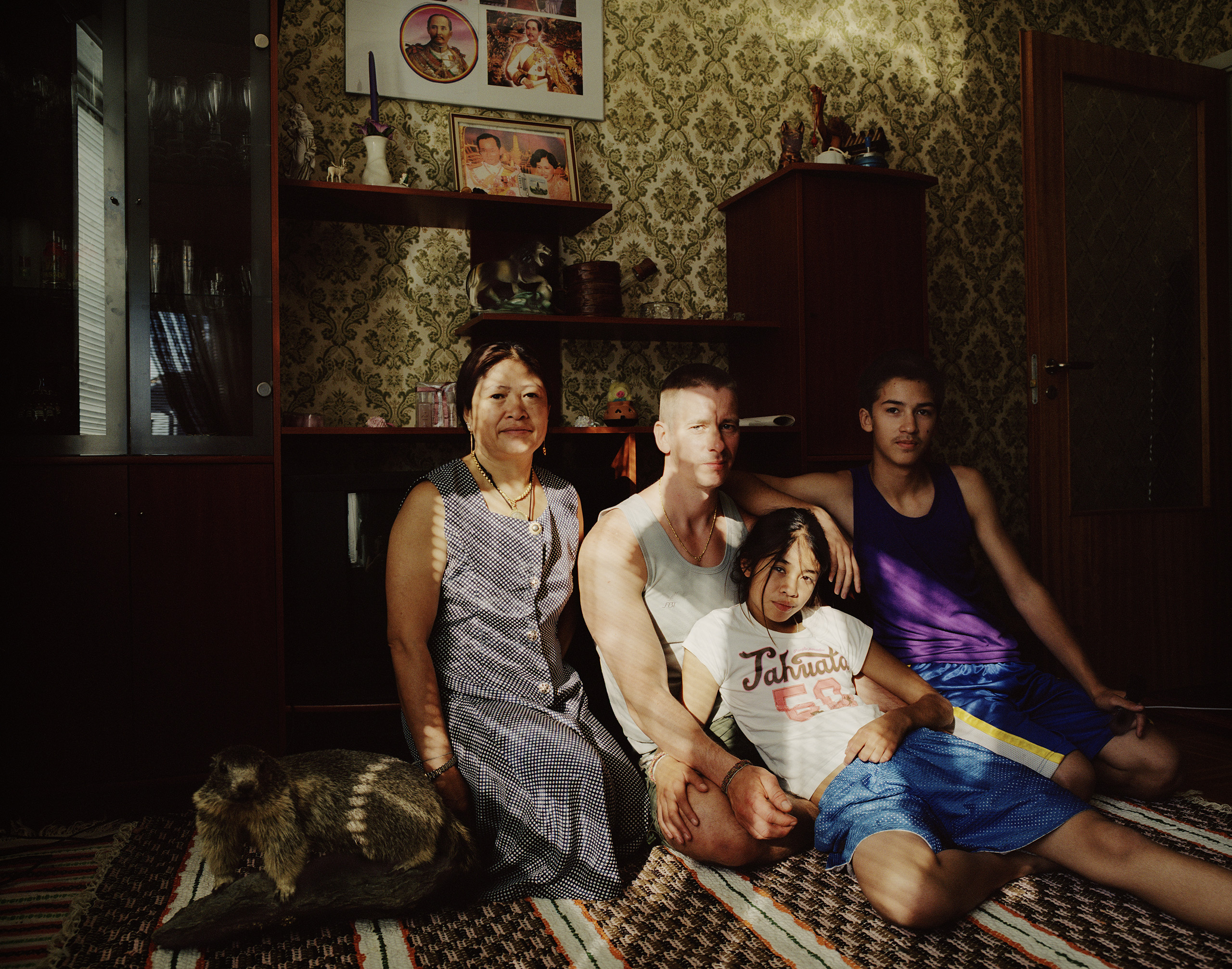 The Johansson family from Stockholm in their summer cottage, Fredrika, 2006.