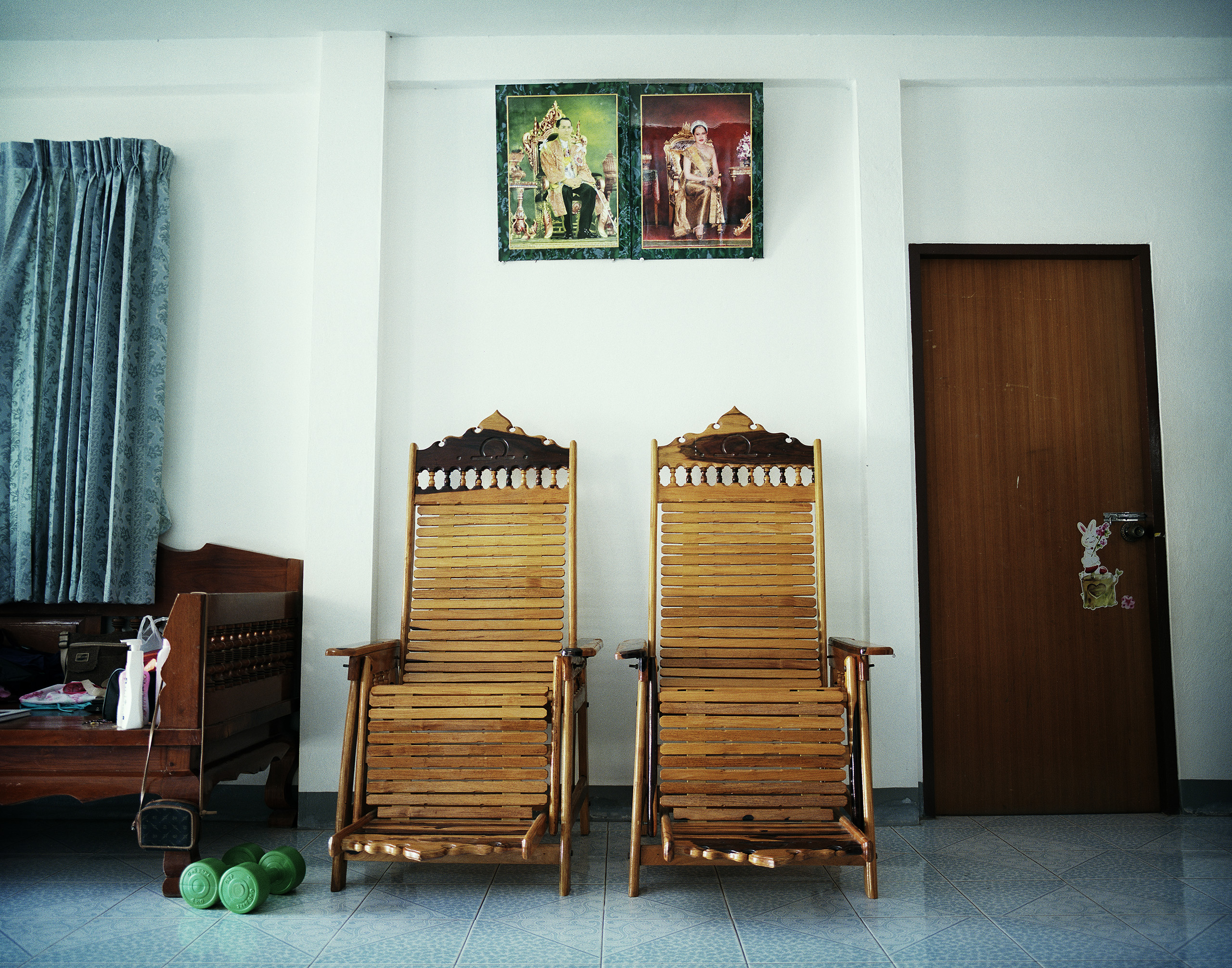 Inside Arne's and Mayura's house, which they built for themselves and Mayura's mother, Kaeng Khro, 2012.