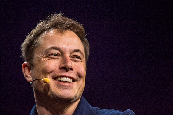 Elon Musk at the GPU Technology Conference in San Jose, California on March 17, 2015.
