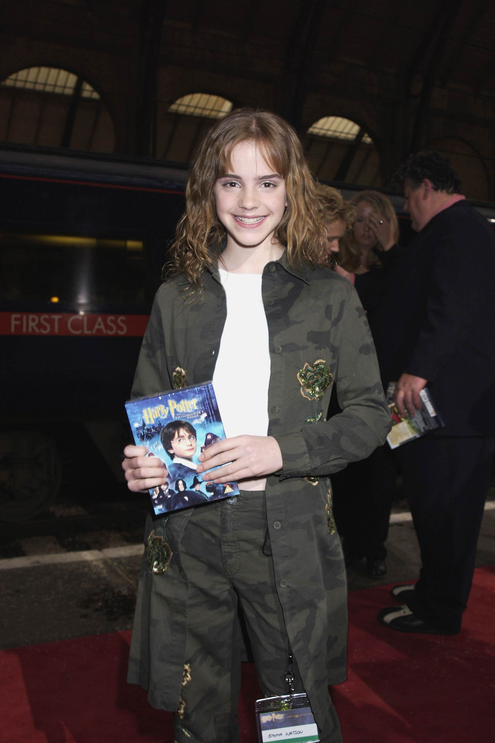Emma Watson at the <i>Harry Potter and The Sorcerer's Stone</i> DVD launch party held on platform 9 3/4, King&#039;s Cross Station in 2002, in London.