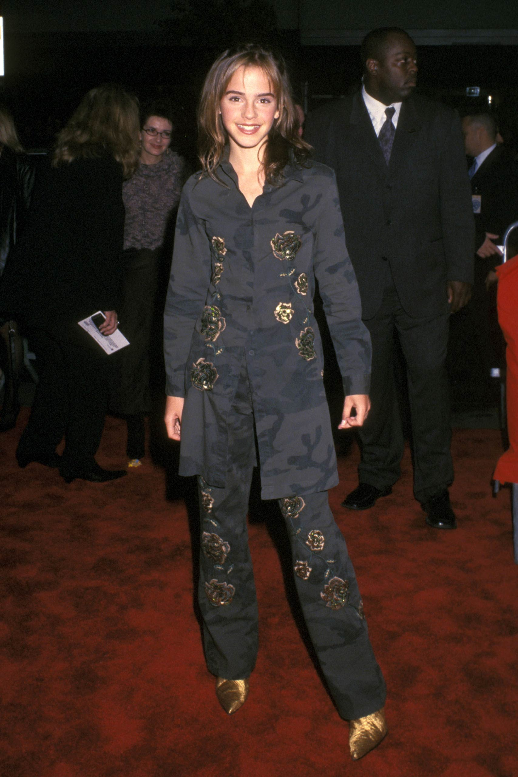 Emma Watson attends the <i>Harry Potter and the Chamber of Secrets</i> in New York in 2002.