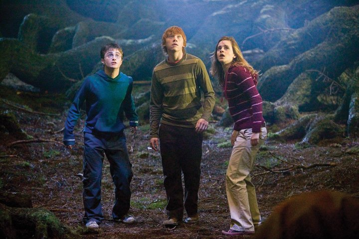 """(L-r) DANIEL RADCLIFFE as Harry Potter, RUPERT GRINT as Ron Weasley and EMMA WATSON as Hermione Granger in Warner Bros. Pictures' fantasy """"Harry Potter and the Order of the Phoenix."""" PHOTOGRAPHS TO BE USED SOLELY FOR ADVERTISING, PROMOTION, PUBLICITY OR REVIEWS OF THIS SPECIFIC MOTION PICTURE AND TO REMAIN THE PROPERTY OF THE STUDIO. NOT FOR SALE OR REDISTRIBUTION"""