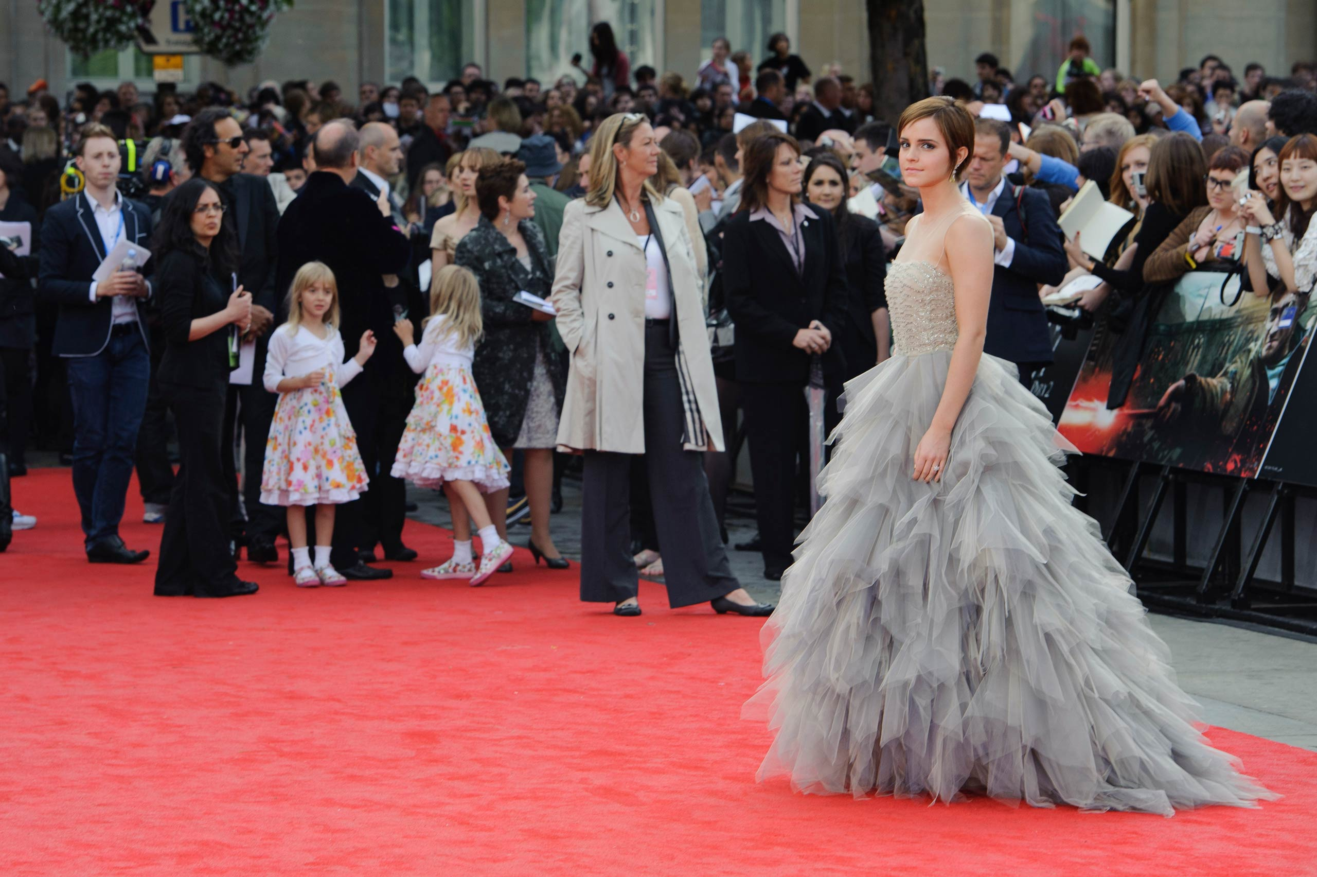 Emma Watson arrives in Trafalgar Square, London, for the world premiere of <i>Harry Potter and The Deathly Hallows: Part 2</i> in 2011.