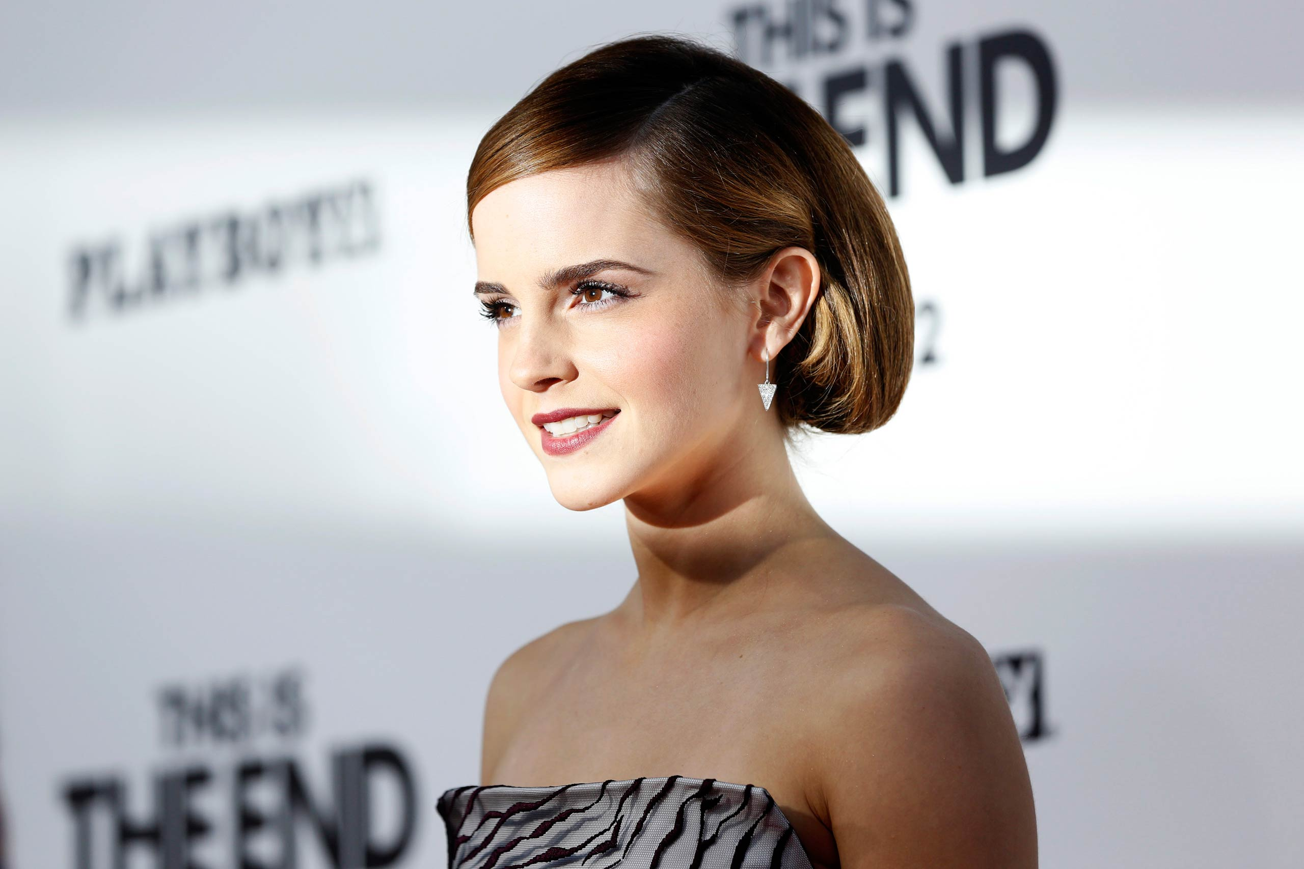 Emma Watson attends the premiere of <i>This Is the End</i> at the Regency Village Theatre in Los Angeles in 2013.