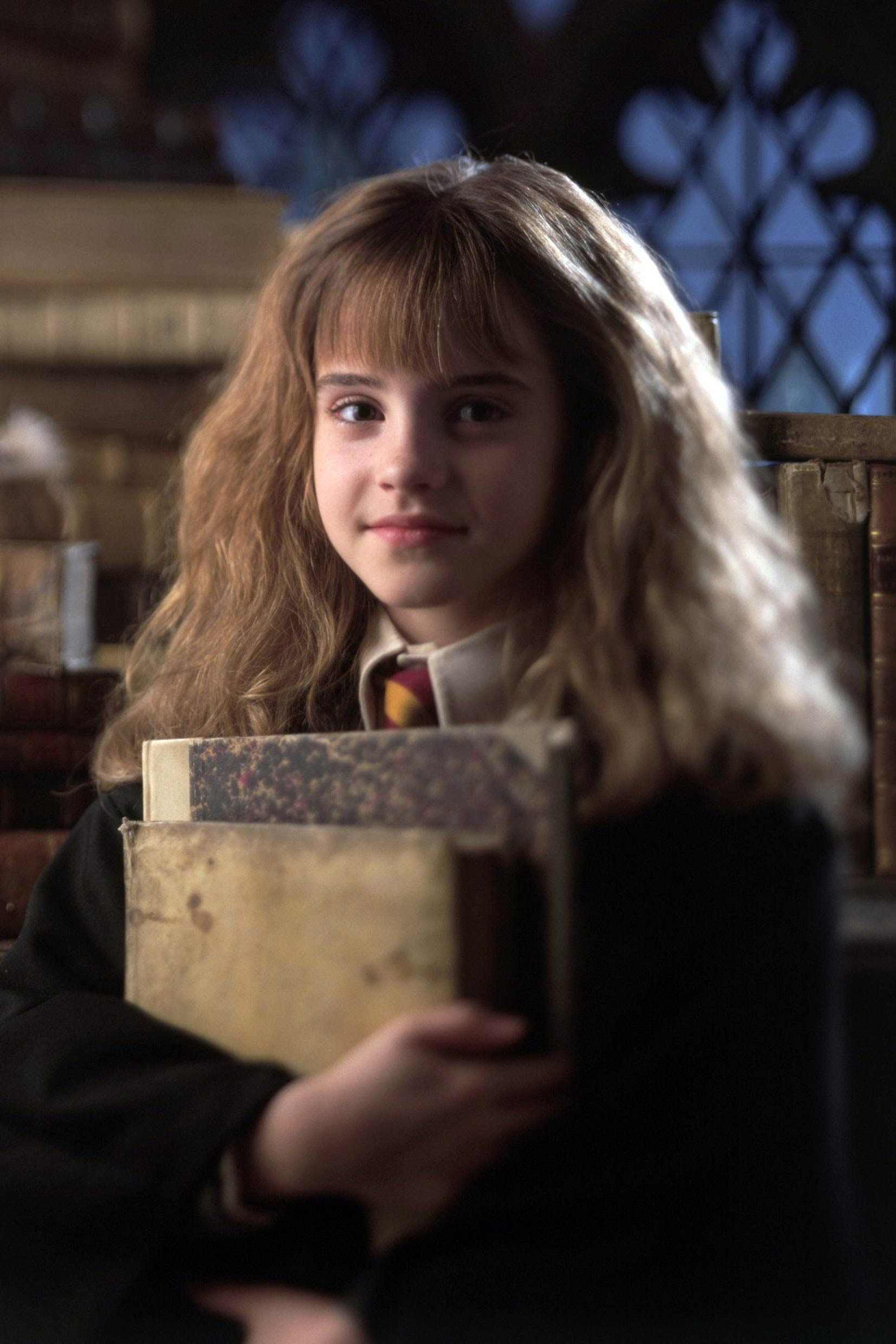 Emma Watson first starred as Hermione Granger at the age of 11 in Harry Potter and the Sorcerer's Stone, 2001.