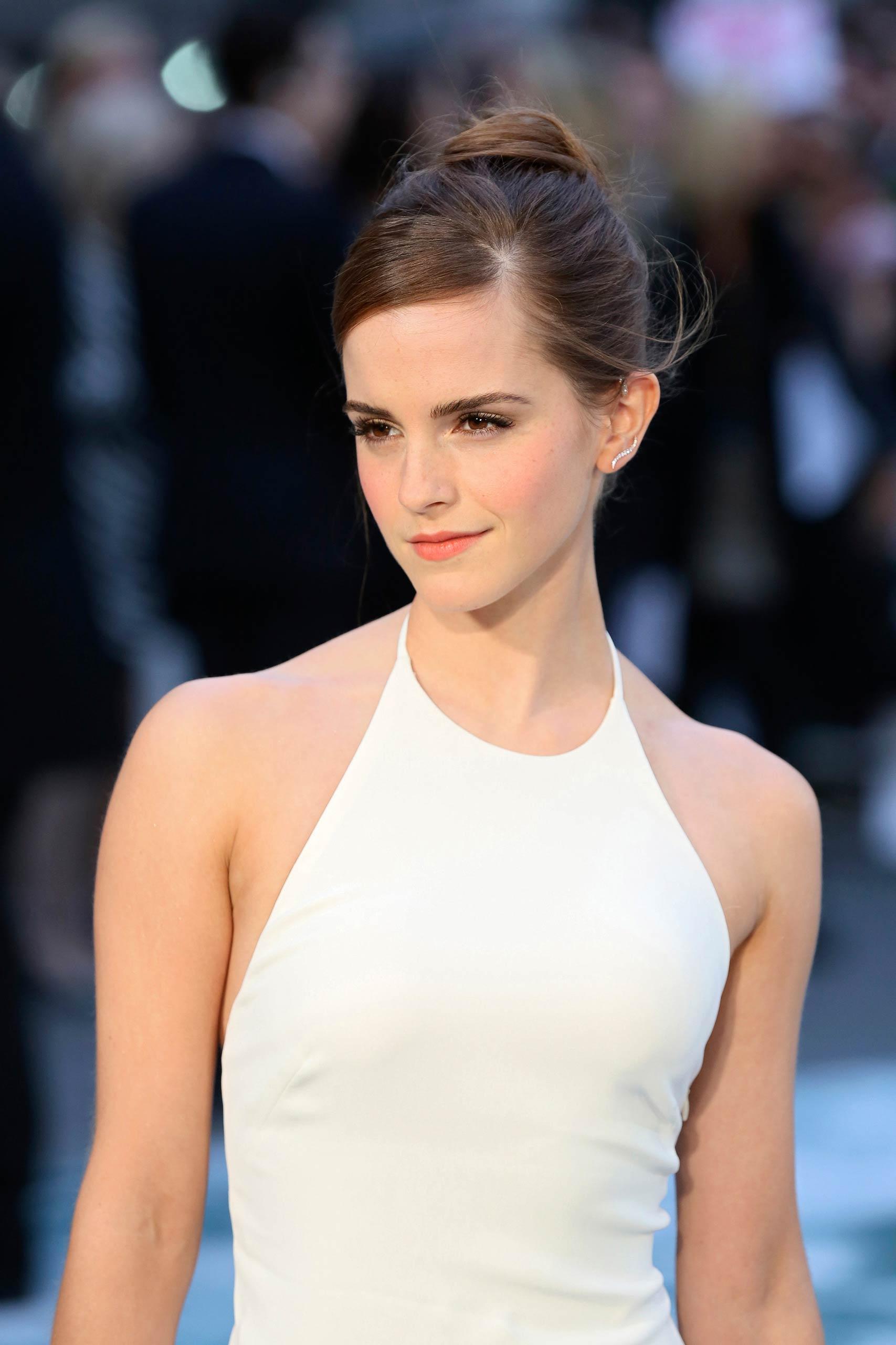 Emma Watson arrives for the UK premiere of <i>Noah</i> in London in 2014.