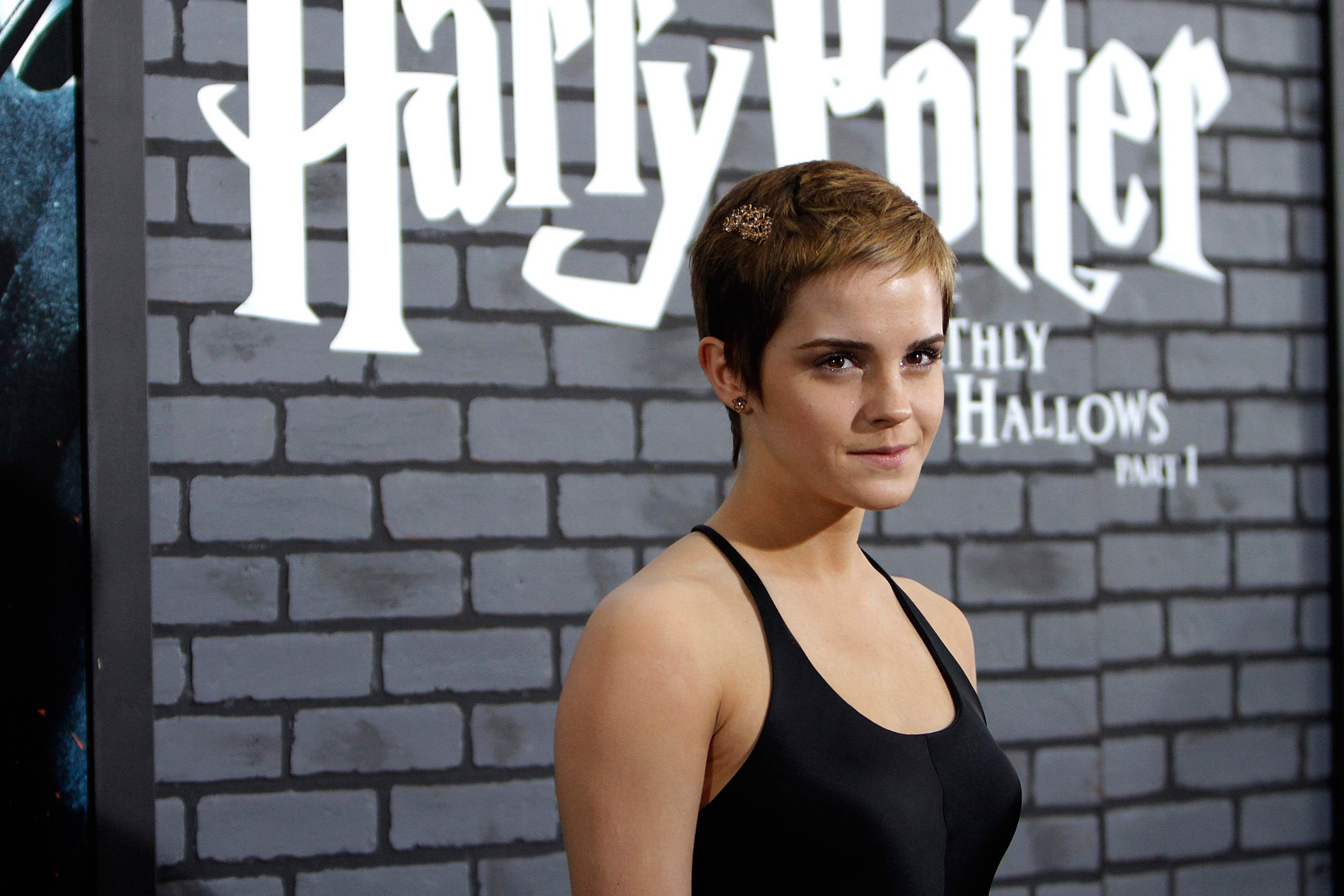 Emma Watson attends the <i>Harry Potter and the Deadly Hallows - Part 1</i> NYC premiere at Alice Tully Hall in New York in 2010.