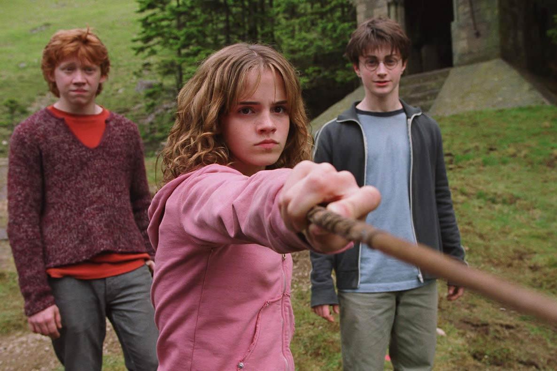 Emma Watson in <i>Harry Potter and the Prisoner of Azkaban</i>, 2004.