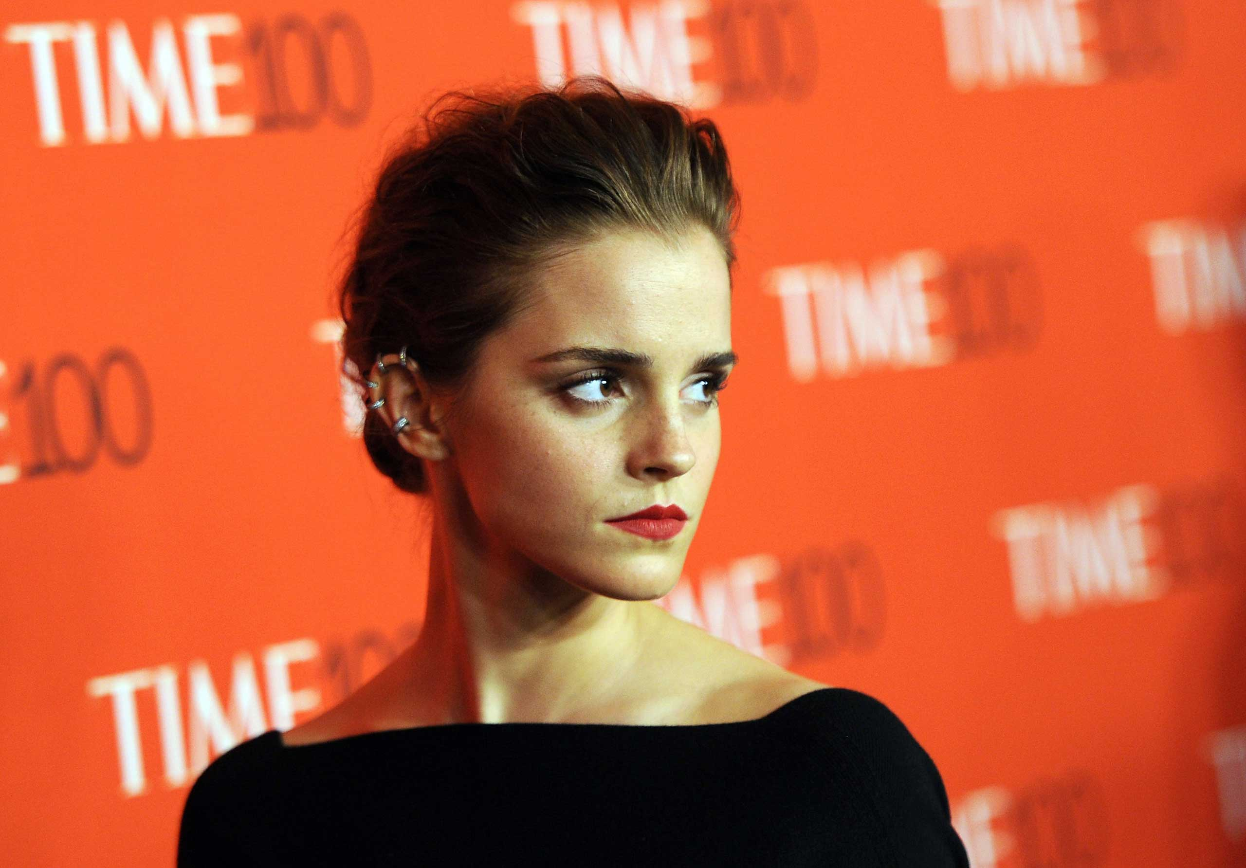 Emma Watson attends the TIME 100 Gala at Jazz at Lincoln Center in New York City on April 21, 2015.