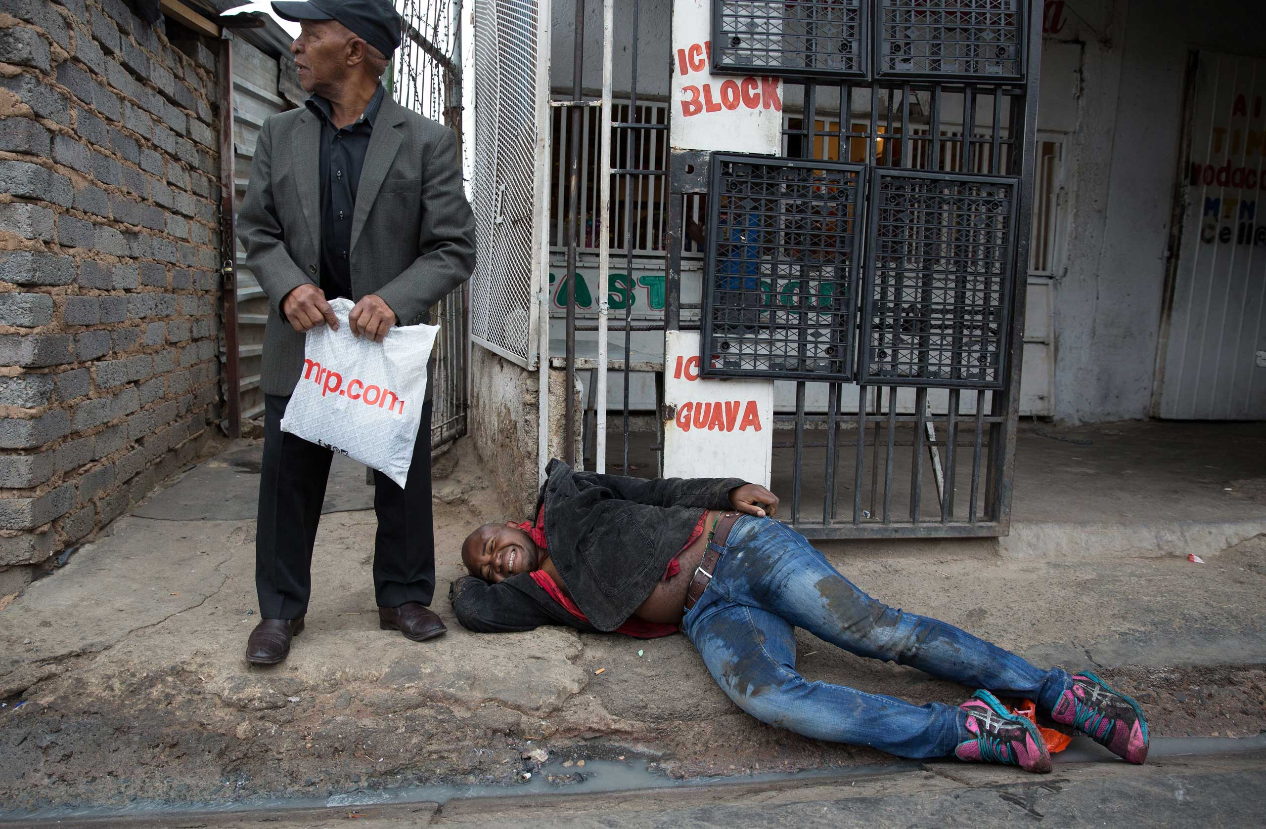 Sithole after being attacked by men in Alexandra township during anti-immigrant violence in Johannesburg on April 18, 2015. He later died of his injuries.