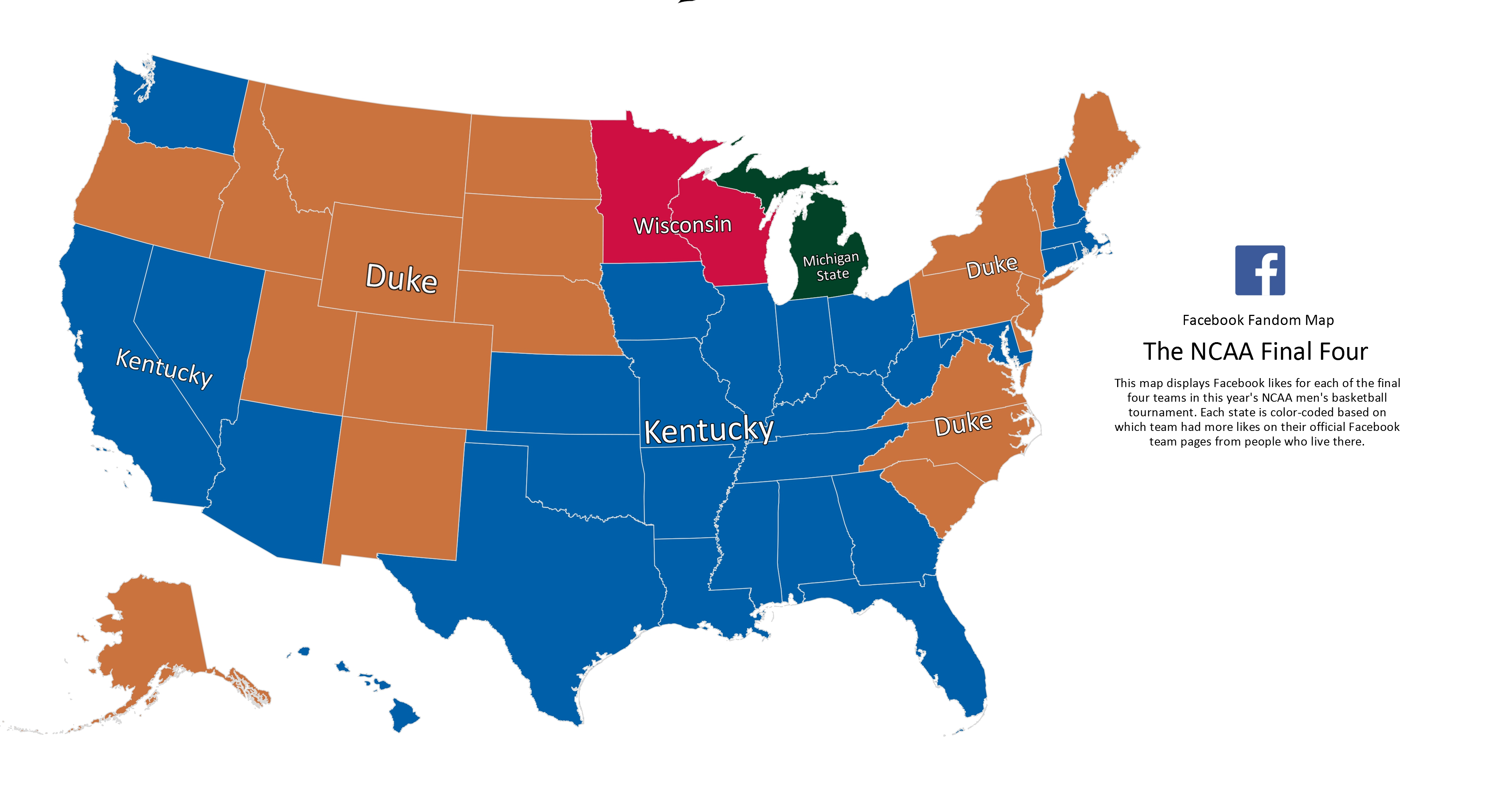These Maps Show Which Final 4 Teams Each State Is Talking ...