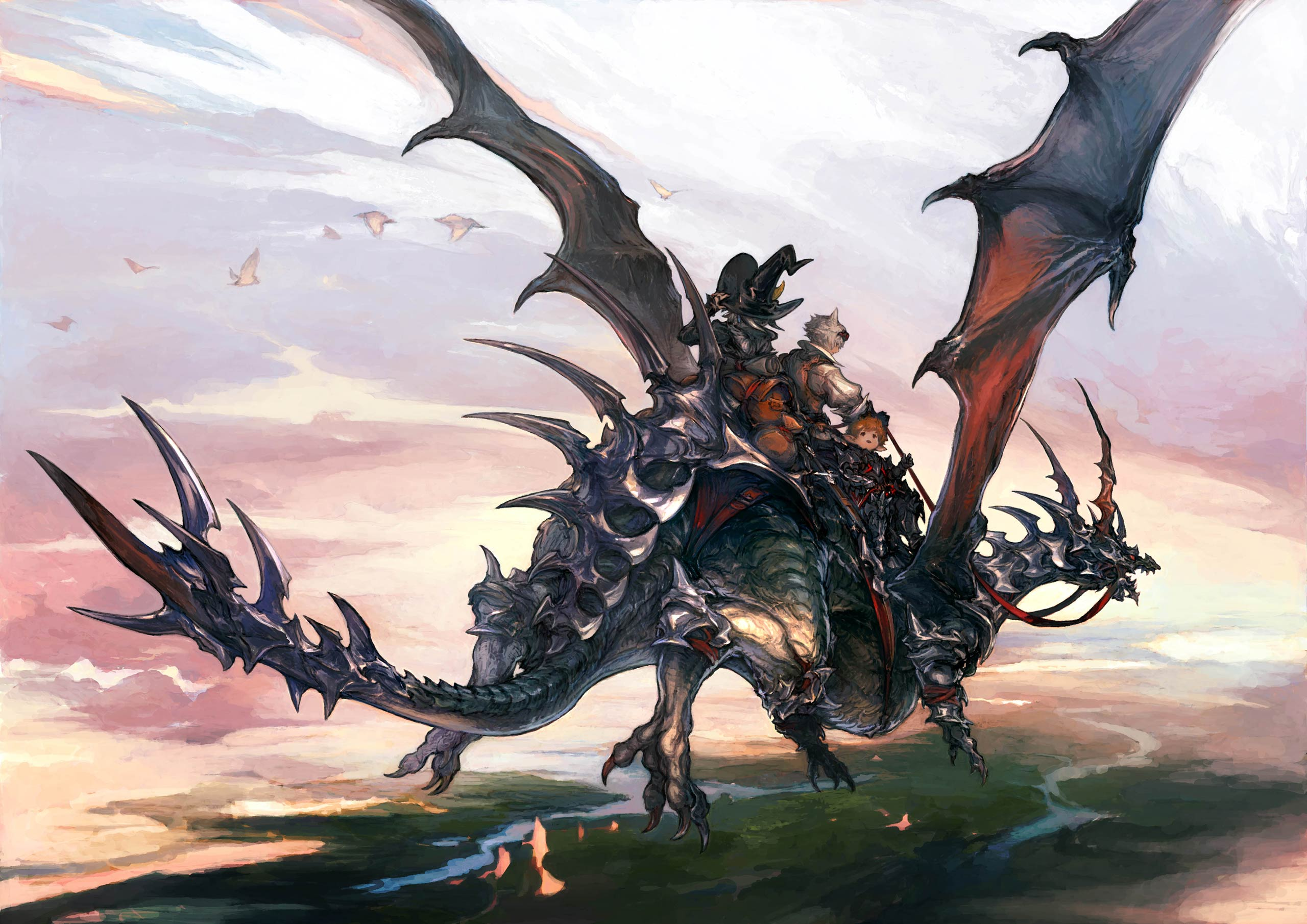 The new flying dragon mount with the three new jobs
