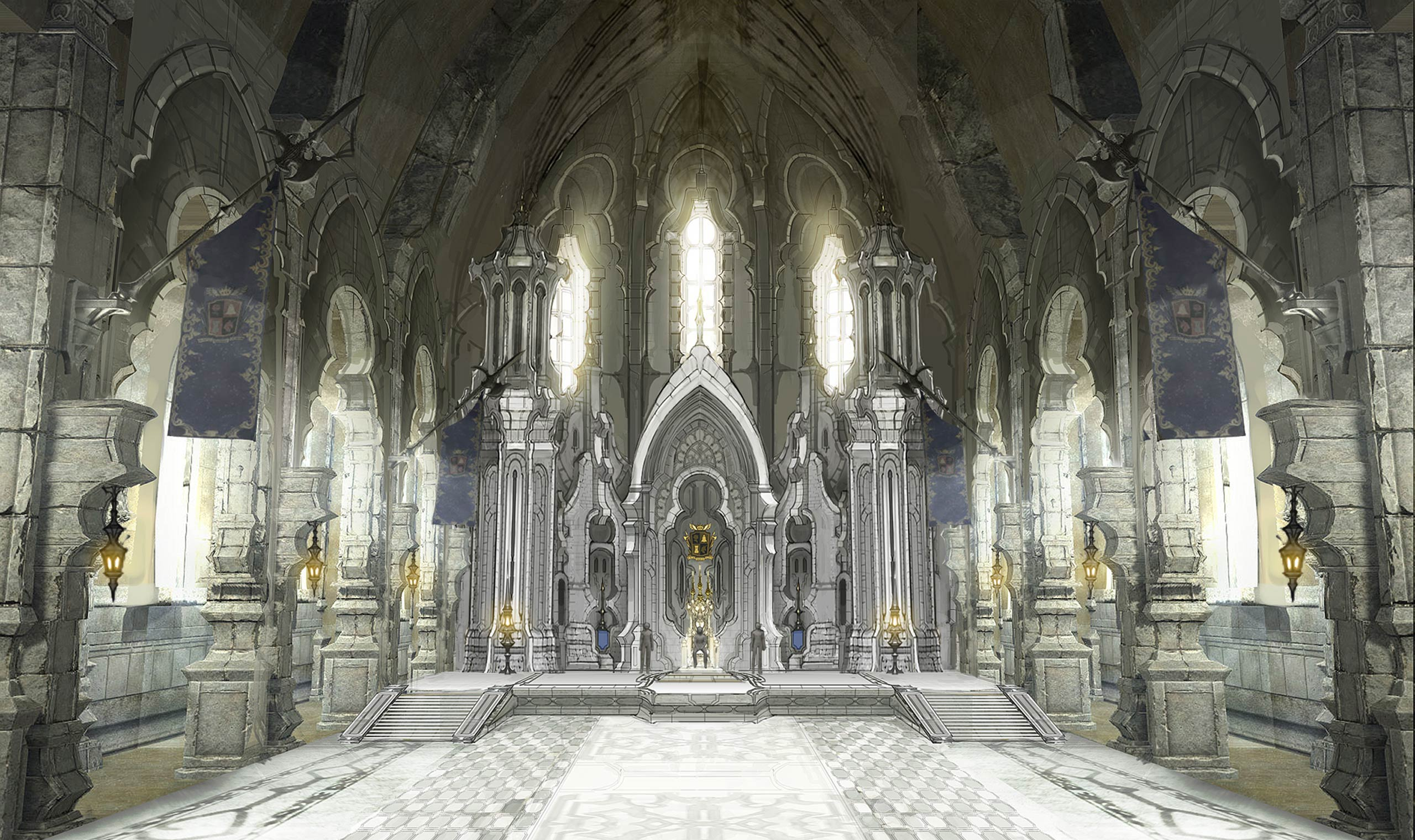 An interior in Ishgard