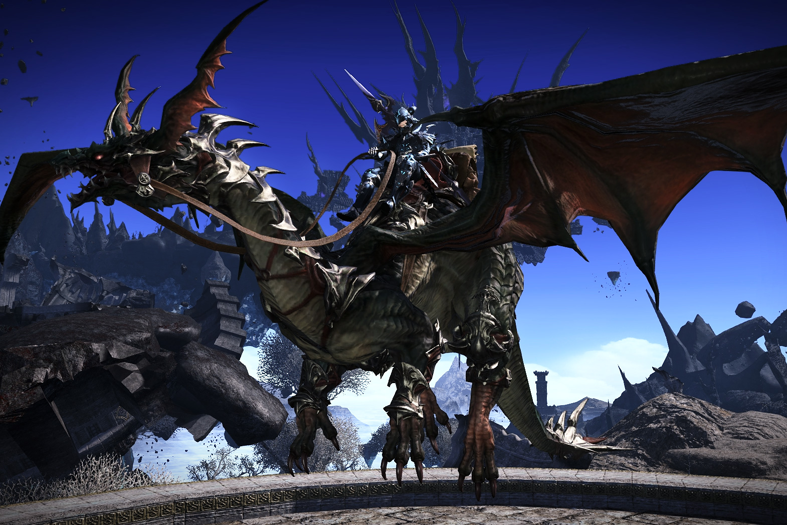 A flying mount in Final Fantasy XIV: Heavensward