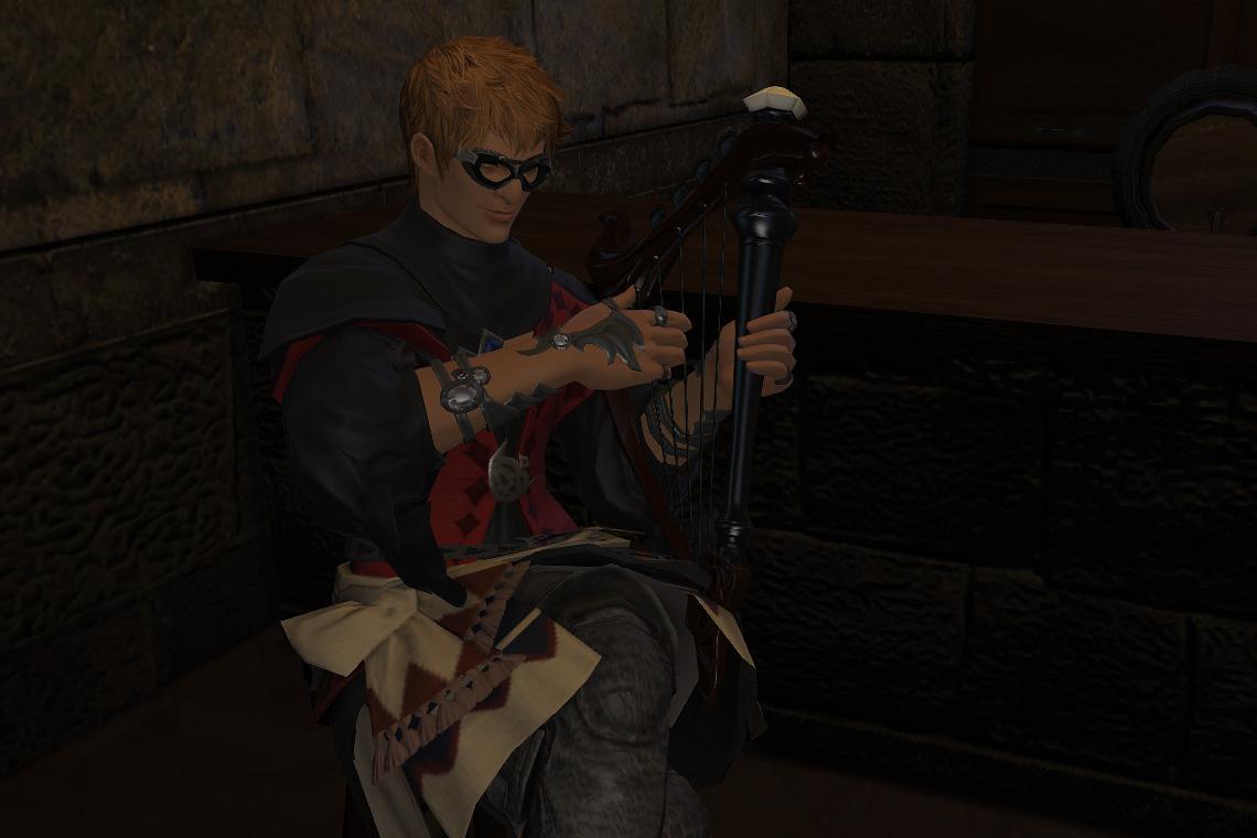 Naoki Yoshida's  Wandering Minstrel  character in Final Fantasy XIV: A Realm Reborn
