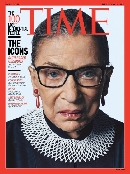 TIME 100 The Icons Ruth Bader Ginsburg Time Magazine Cover