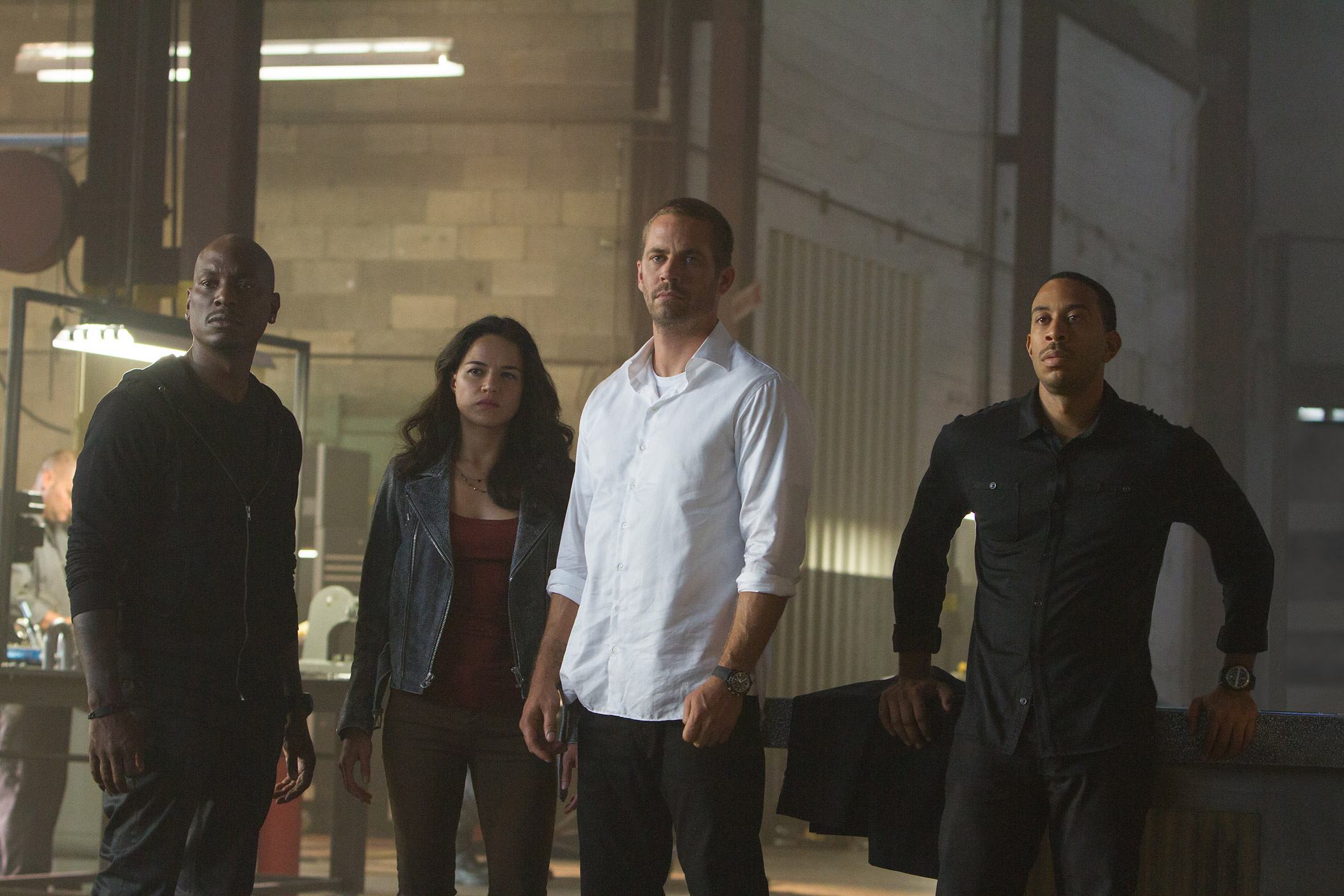 Tyrese Gibson, Michelle Rodriguez, Paul Walker and Chris  Ludacris  Bridges star in Furious 7