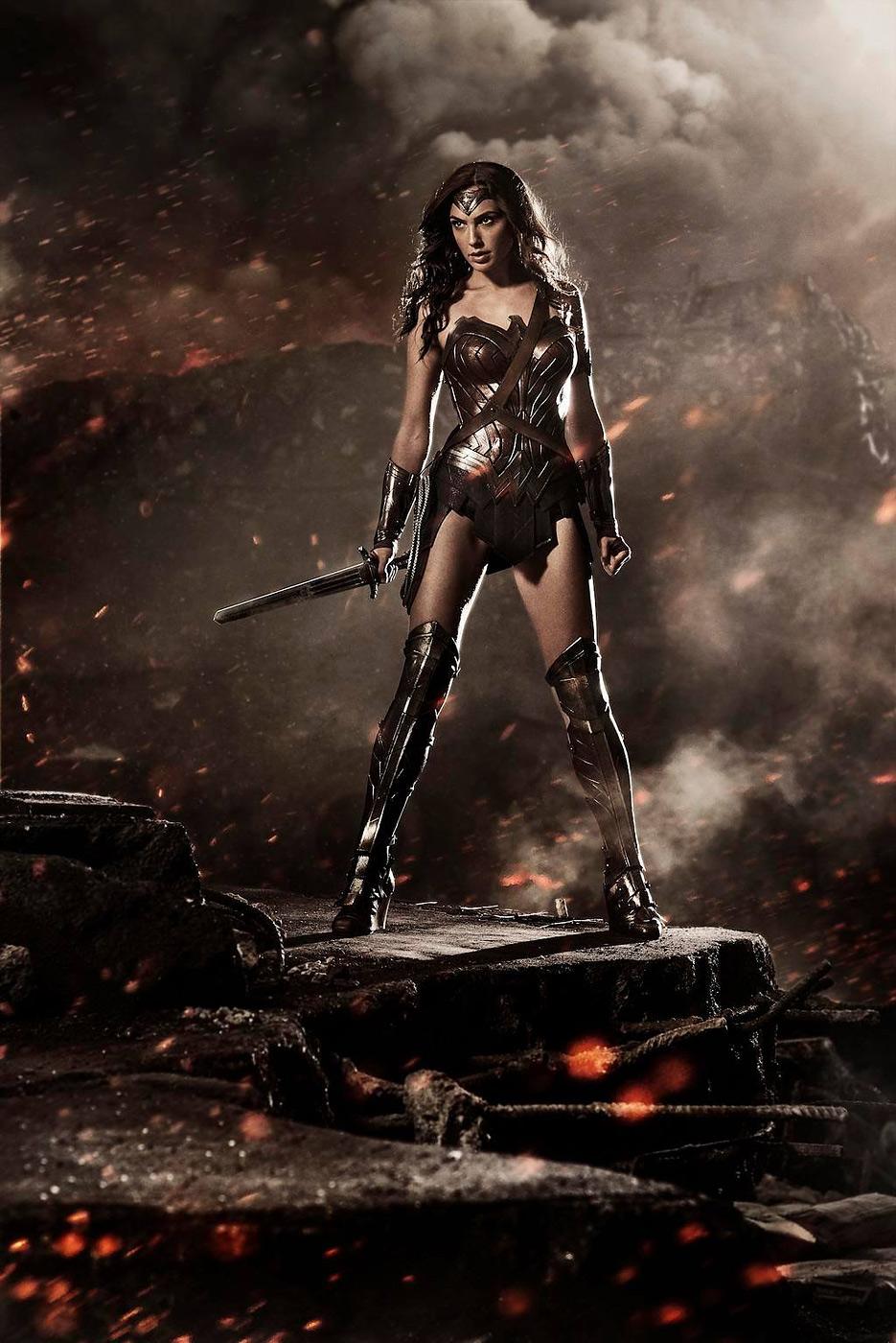Gal Gadot as Wonder Woman in Batman v Superman: Dawn of Justice