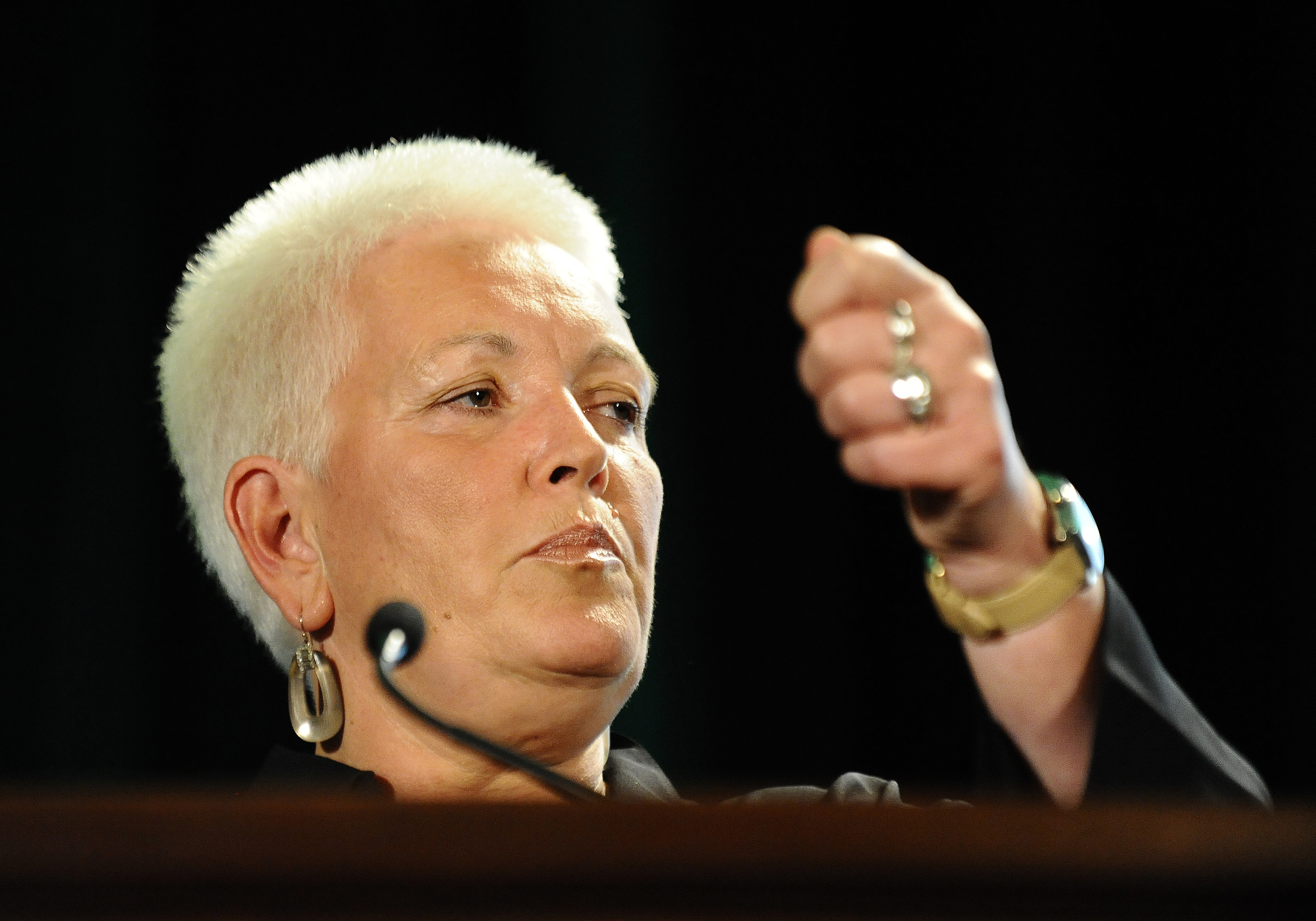 Gayle Smith, special assistant to President Obama and senior director at the National Security Council, speaks during the Society for International Development (SID) World Congress in Washington, DC, on July 29, 2011.