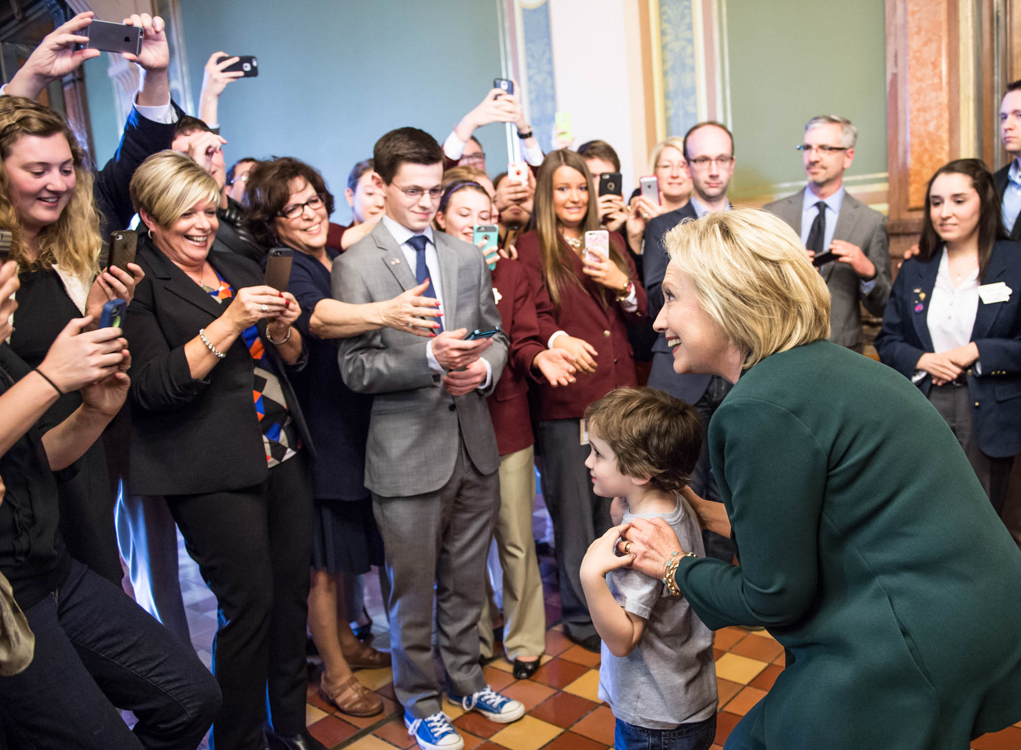Hillary Clinton visits the Iowa State Capitol. April 15, 2015.