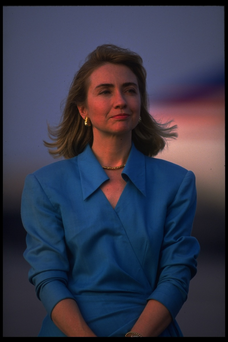 Hillary Rodham Clinton during her husband's 1992 campaign
