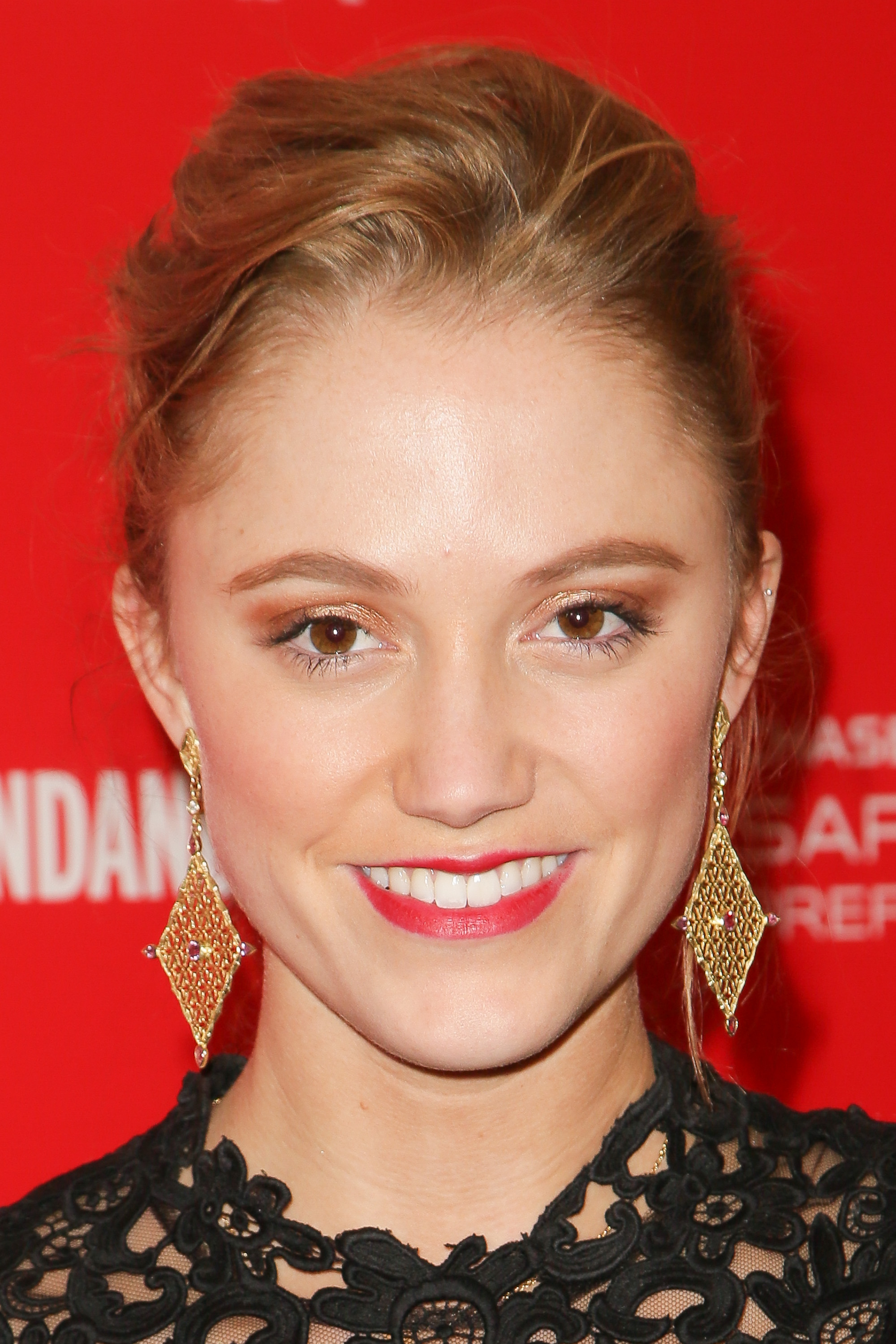 Actress Maika Monroe arrives at the  It Follows  premiere during the 2015 Sundance Film Festival on January 24, 2015 in Park City, Utah.