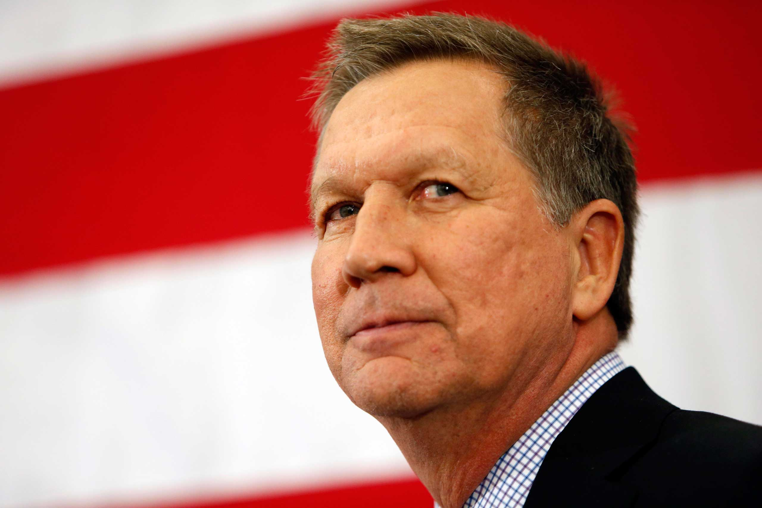 Gov. John Kasich, R-Ohio, speaks at the Republican Leadership Summit in Nashua, N.H. on April 18, 2015.
