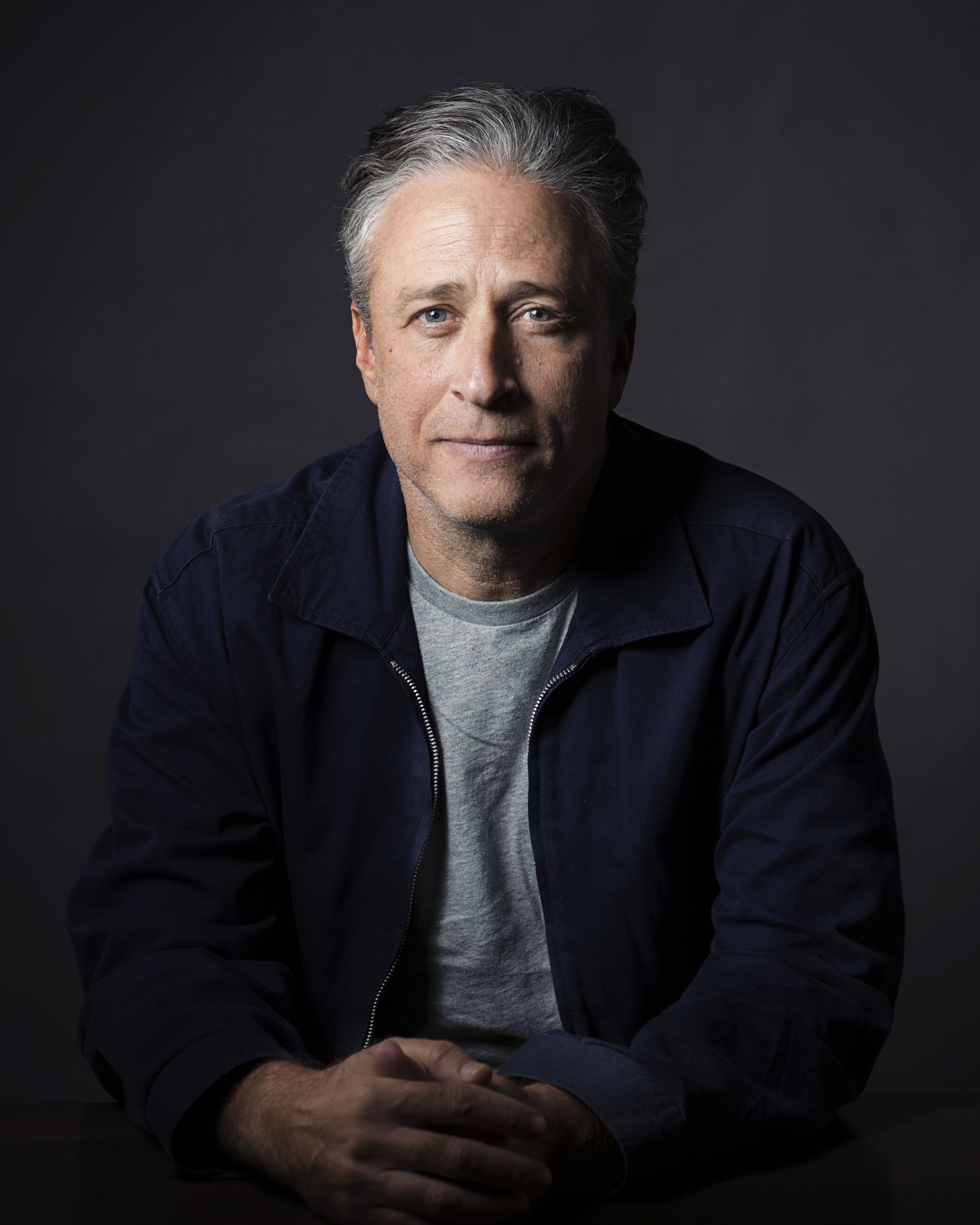 Jon Stewart poses for a portrait in promotion of directorial and screenwriting feature debut Rosewater on Nov. 7, 2014