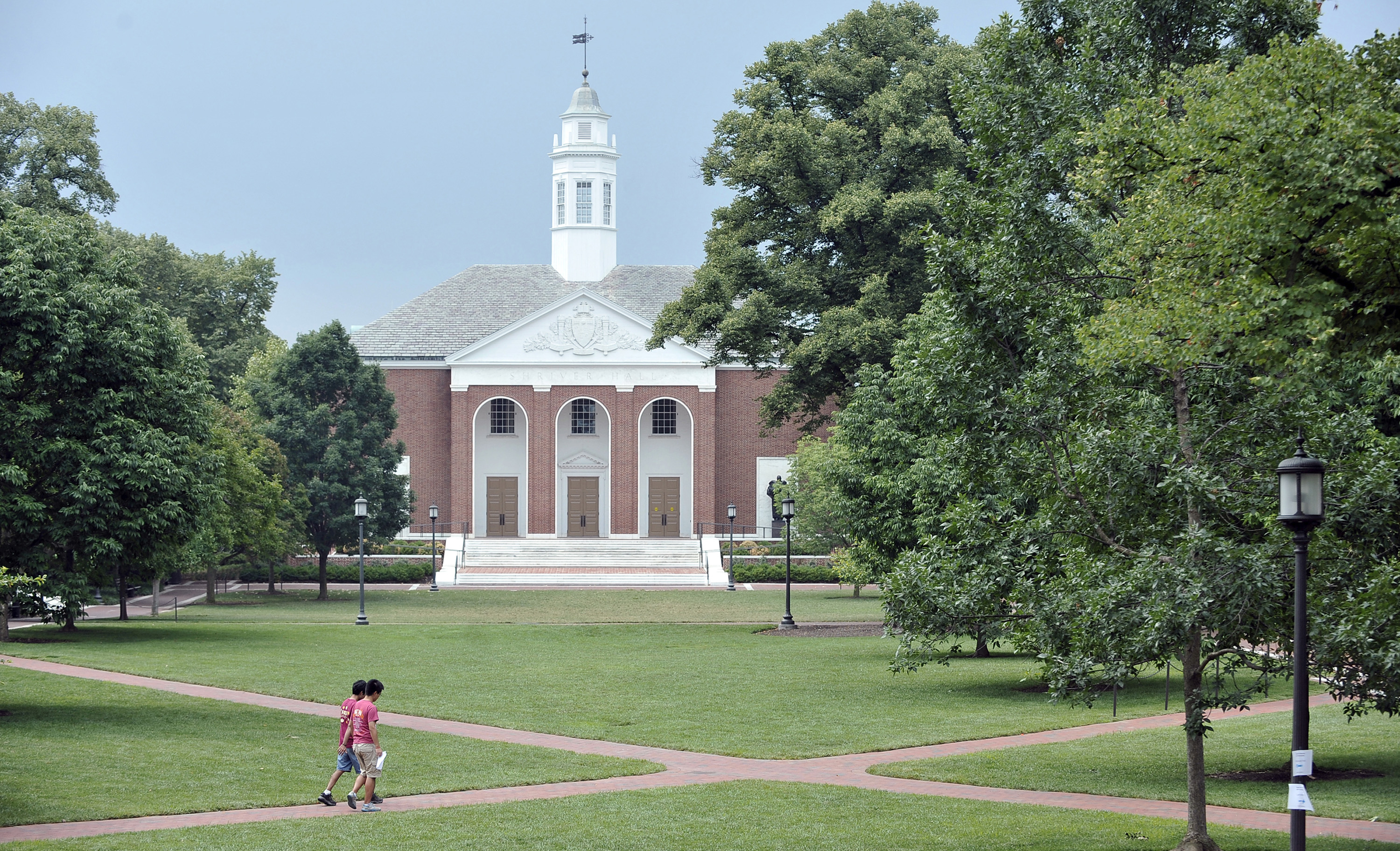 The Johns Hopkins University campus in Baltimore, Maryland.