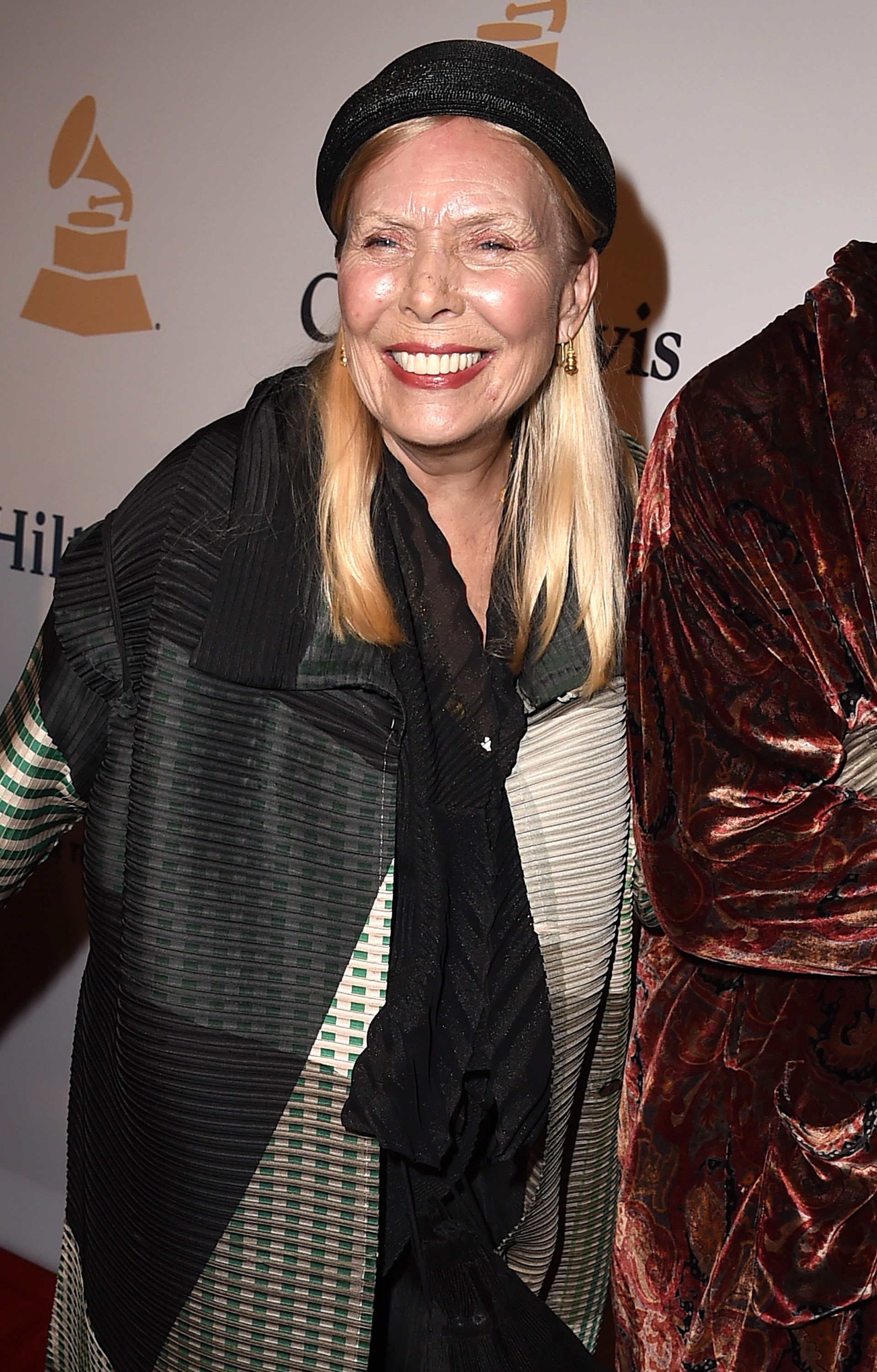 Singer-songwriter Joni Mitchell attends the Pre-GRAMMY Gala and Salute To Industry Icons on Feb. 7, 2015 in Los Angeles, California.