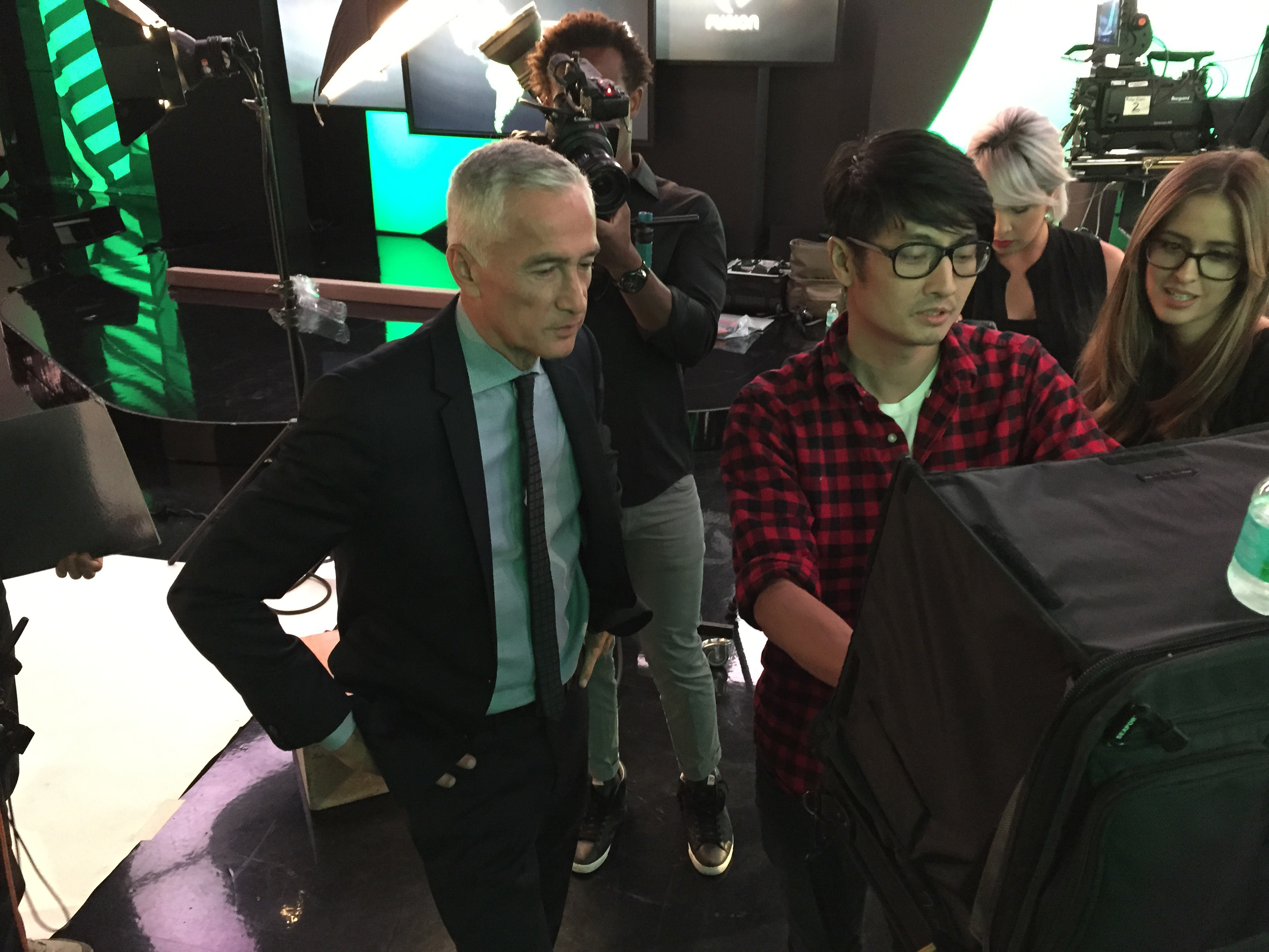 Photographer Sebastian Kim and Mexican- American journalist and author Jorge Ramos photographed on Thursday, March 19, 2015 in Doral, Florida for TIME.