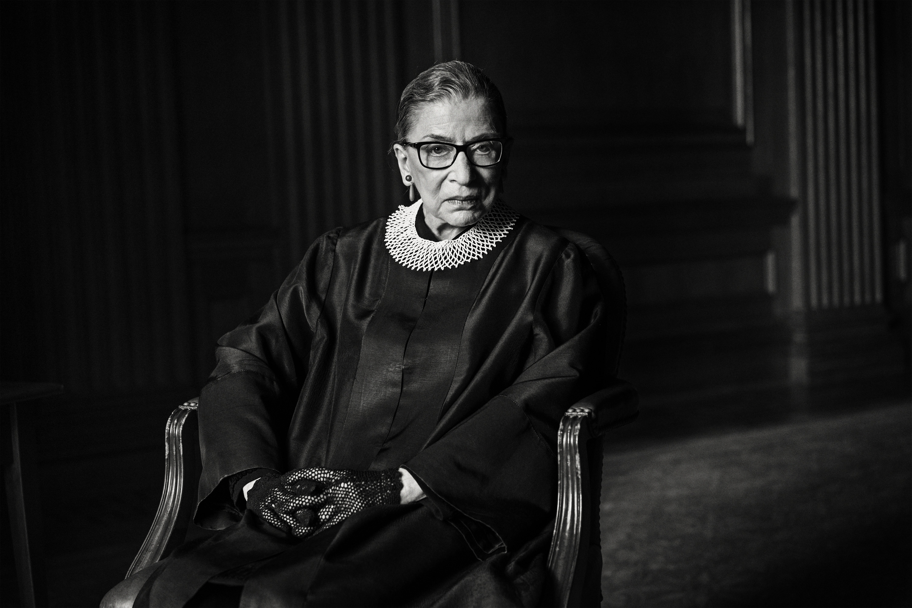 Portrait of Associate Justice of the Supreme Court of the United States Ruth Bader Ginsburg photographed on Tuesday, March 17th, 2015 at the Supreme Court East Conference Room in Washington D.C. for TIME.