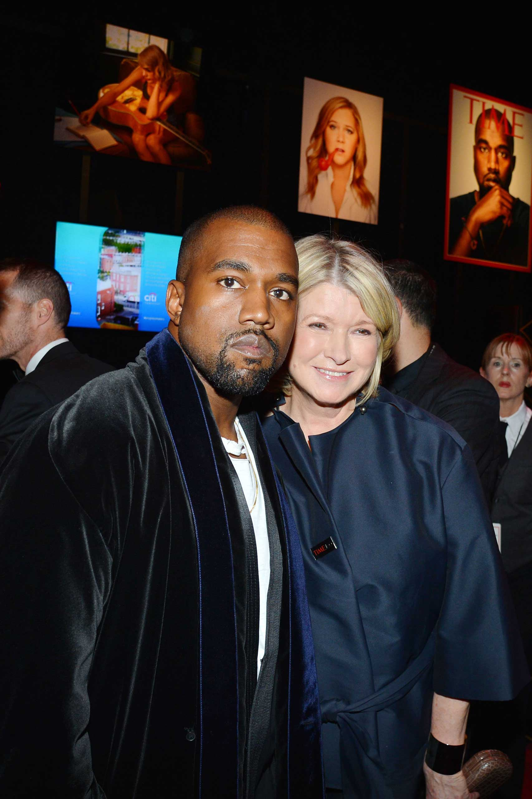 Martha Stewart Kanye West attend the TIME 100 Gala at Jazz at Lincoln Center in New York City on April 21, 2015.