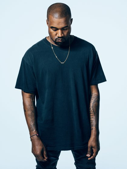 Portrait of musician Kanye West photographed at Milk Studios in Los Angeles, California for time on march 18th, 2015.